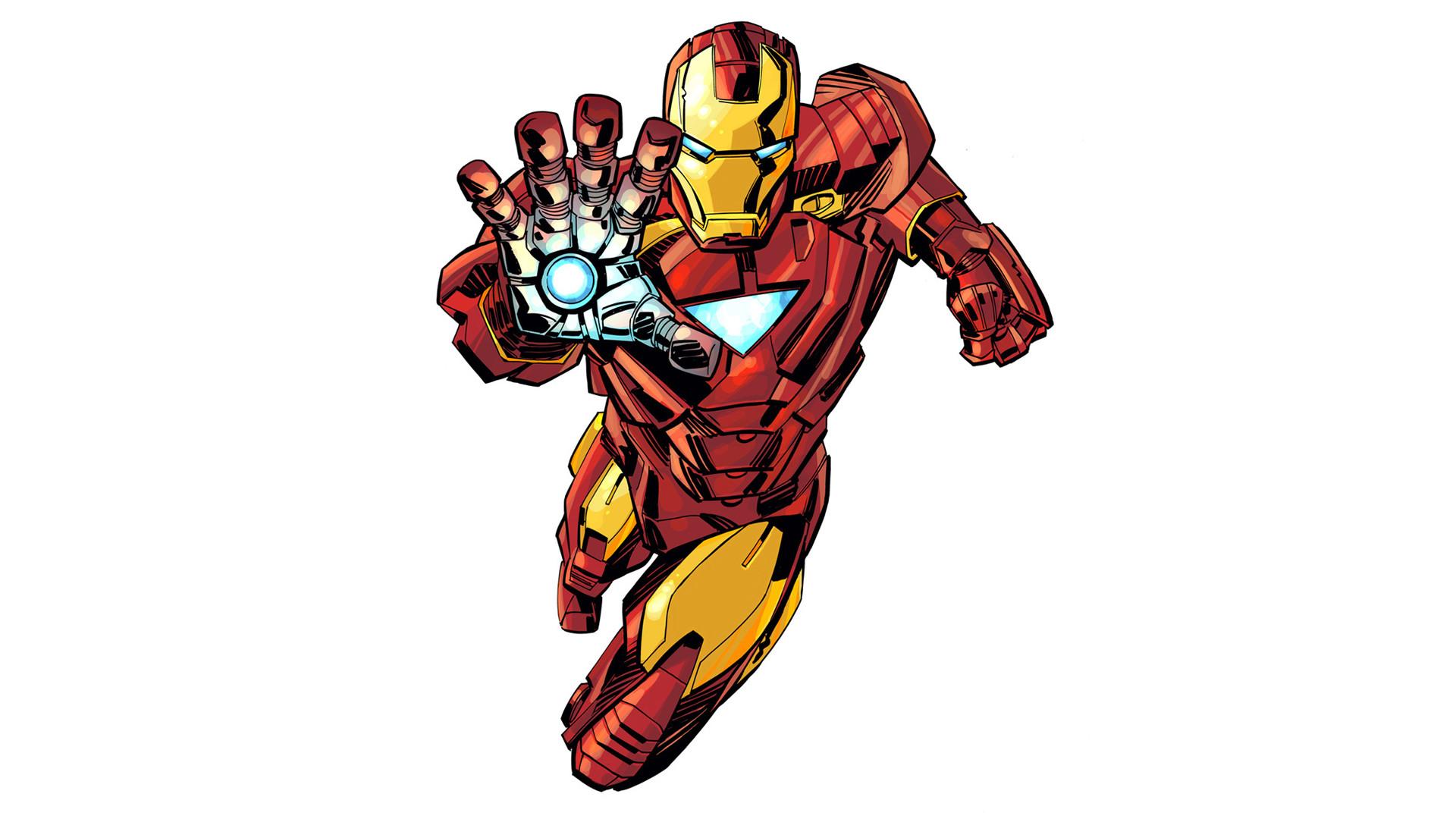 Res: 1920x1080, Iron Man Cartoon.