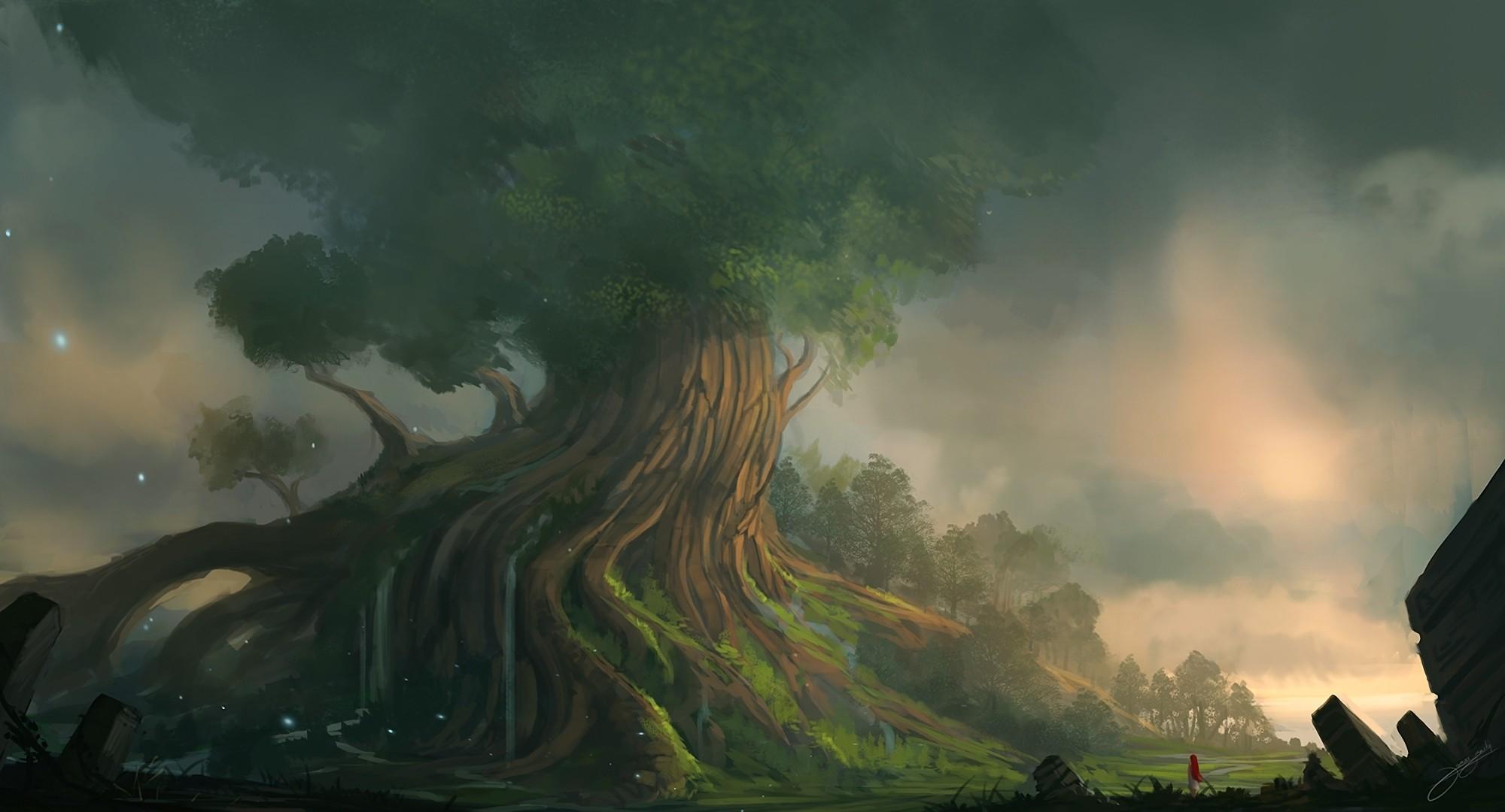 Res: 2000x1080, Fantasy - Landschaft Wallpaper