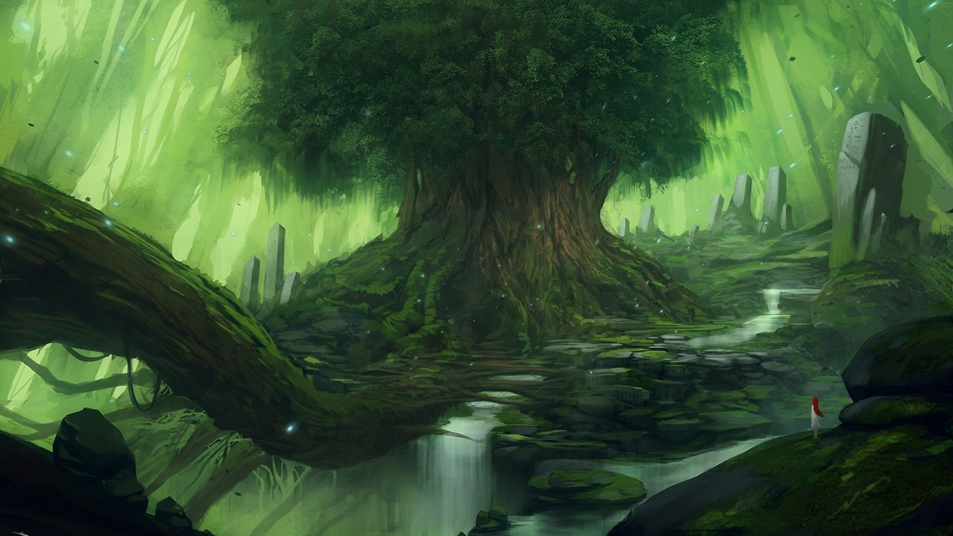Res: 1920x1080, Fantasy Forest Wallpapers 7 - 1920 X 1080