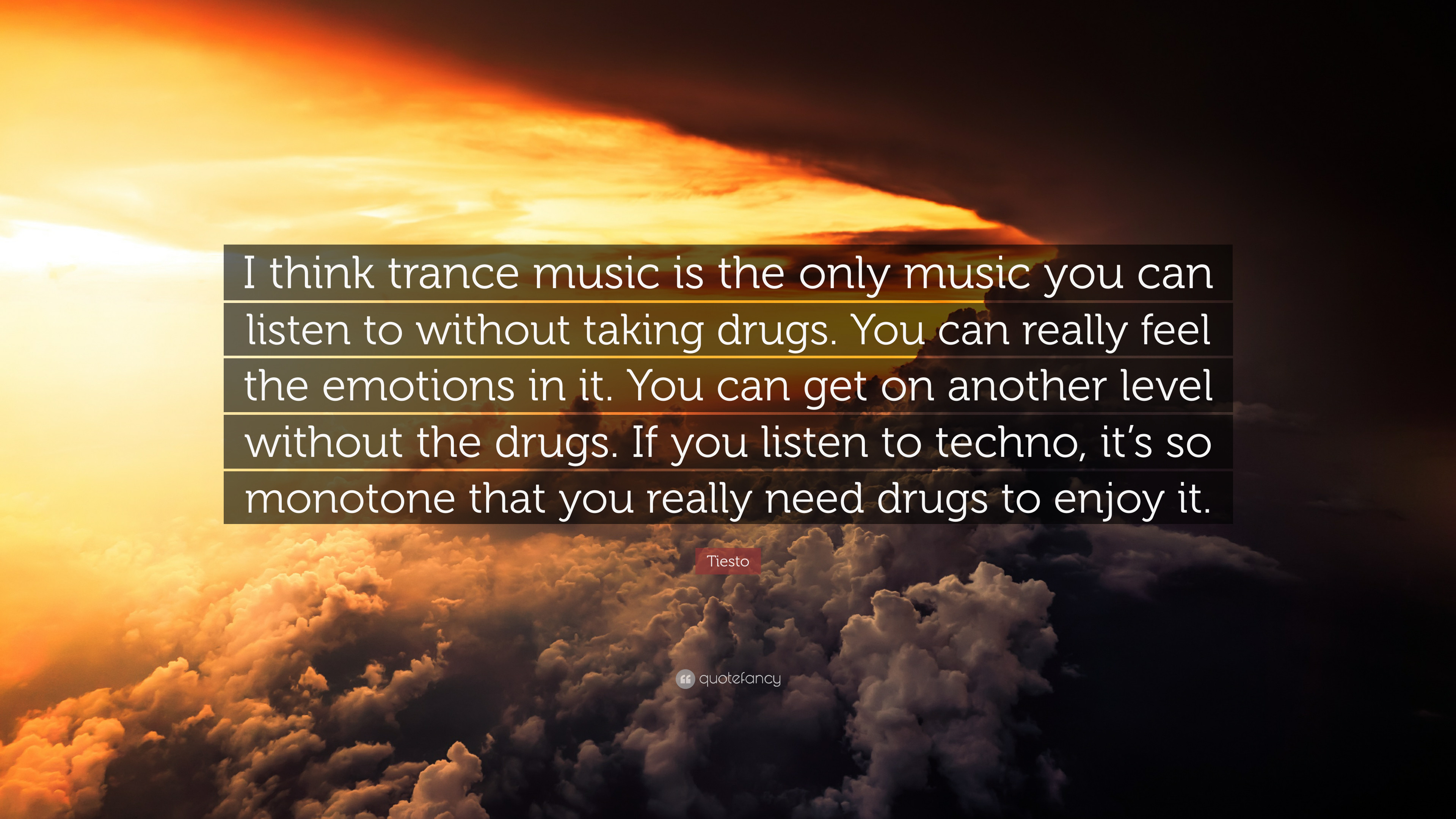 "Res: 3840x2160, Tiesto Quote: ""I think trance music is the only music you can listen to"