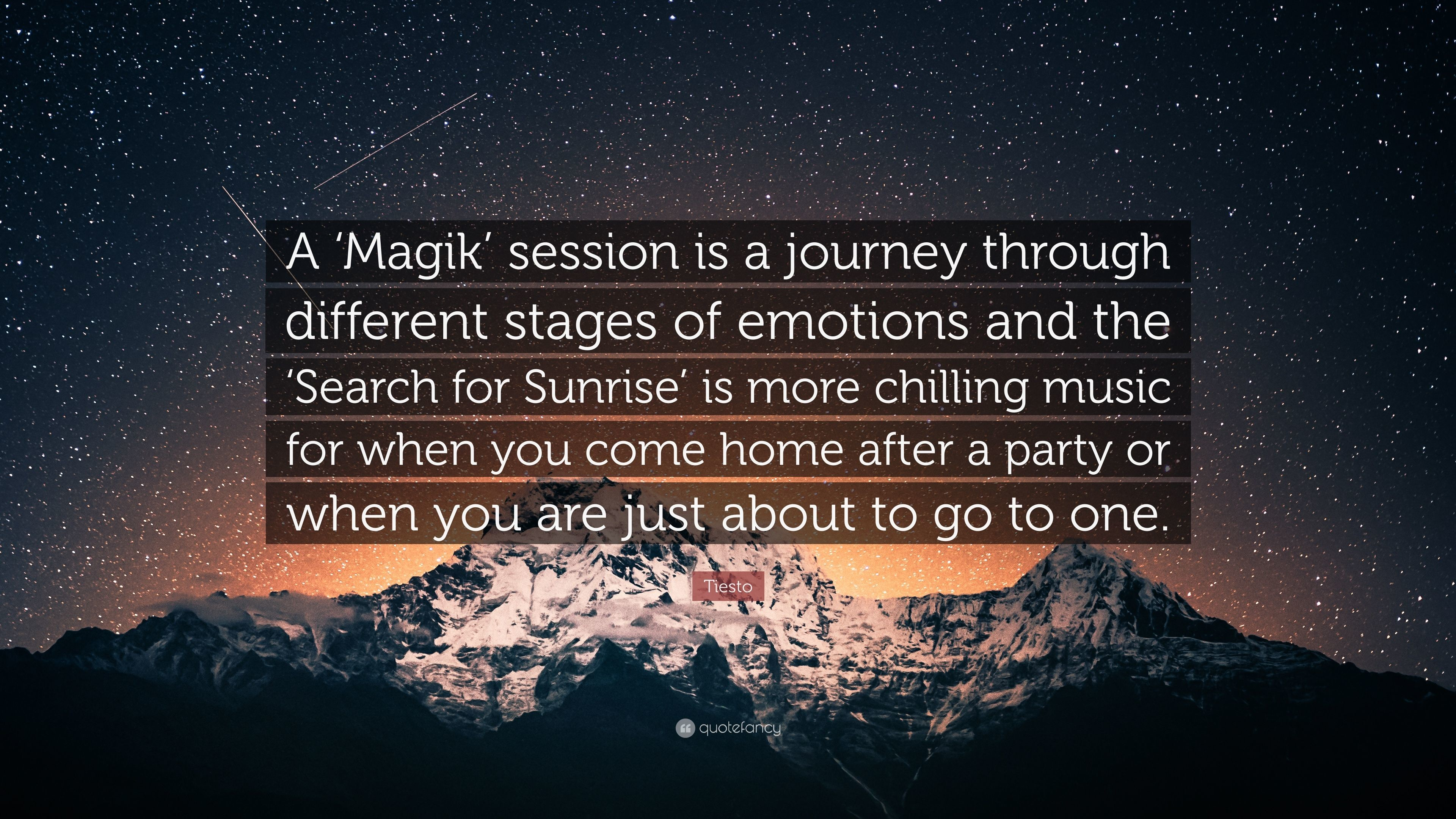 "Res: 3840x2160, Tiesto Quote: ""A 'Magik' session is a journey through different stages of"