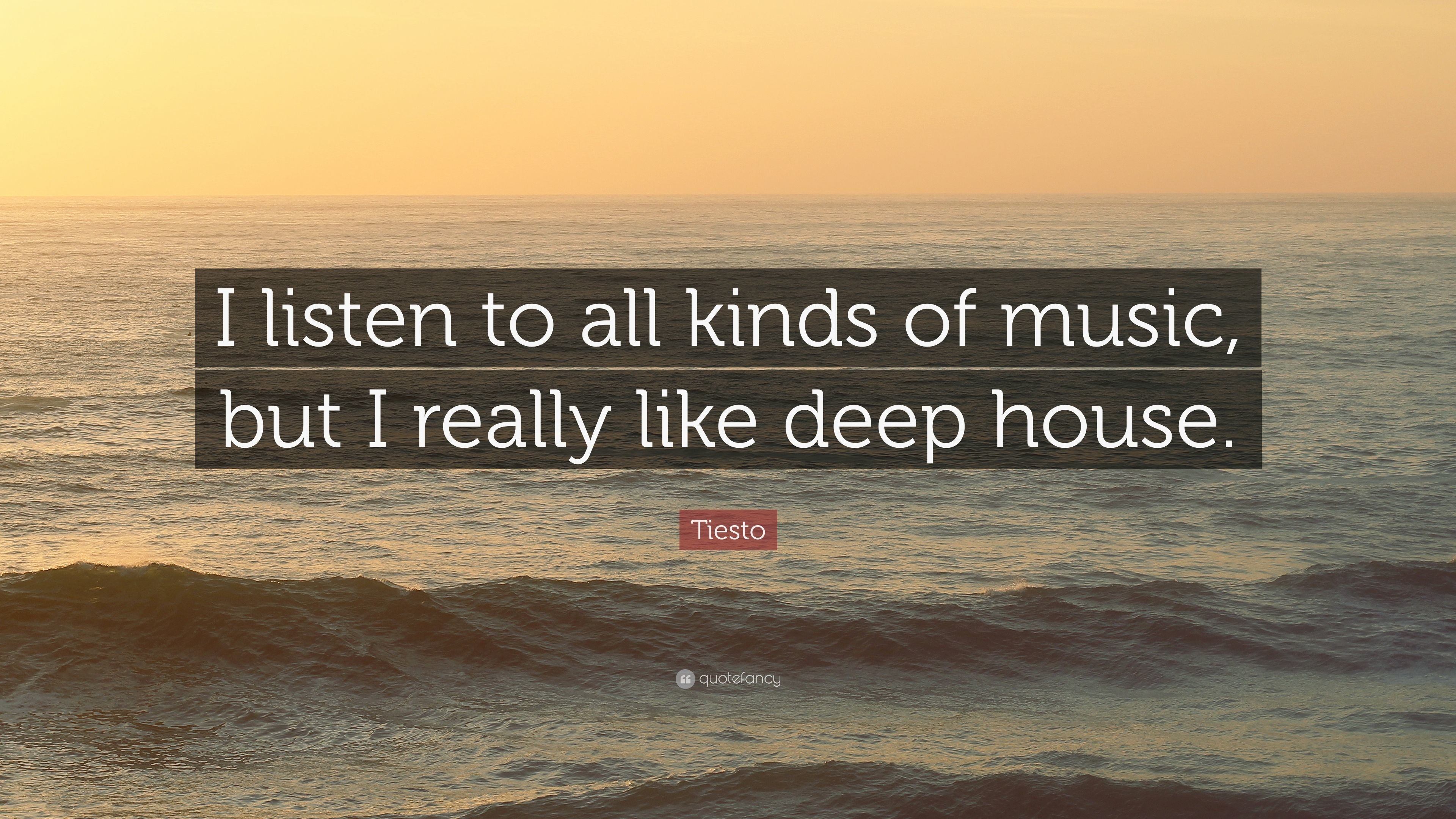 "Res: 3840x2160, Tiesto Quote: ""I listen to all kinds of music, but I really like"
