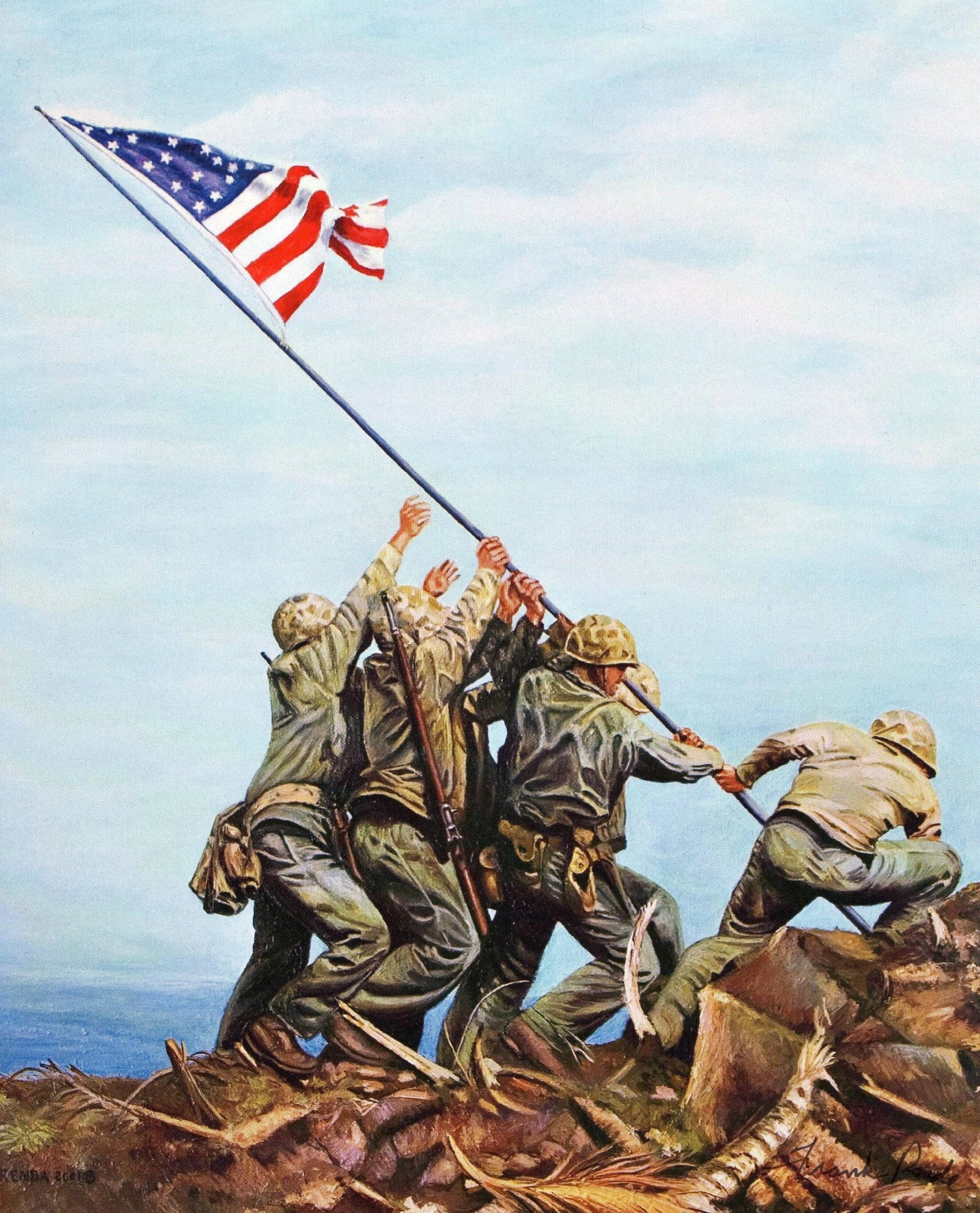 Res: 1858x2299, Razing the flag