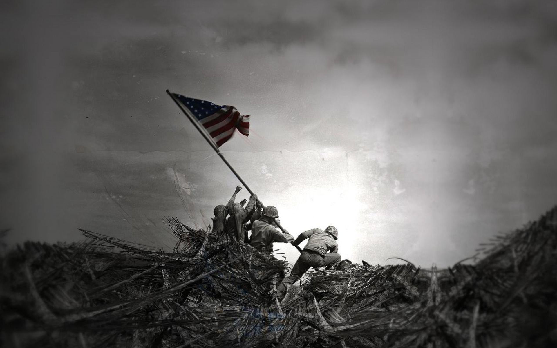 Res: 1920x1200, DCF47: Iwo Jima Flag Raising Wallpaper,  px, by Deirdre Dibble