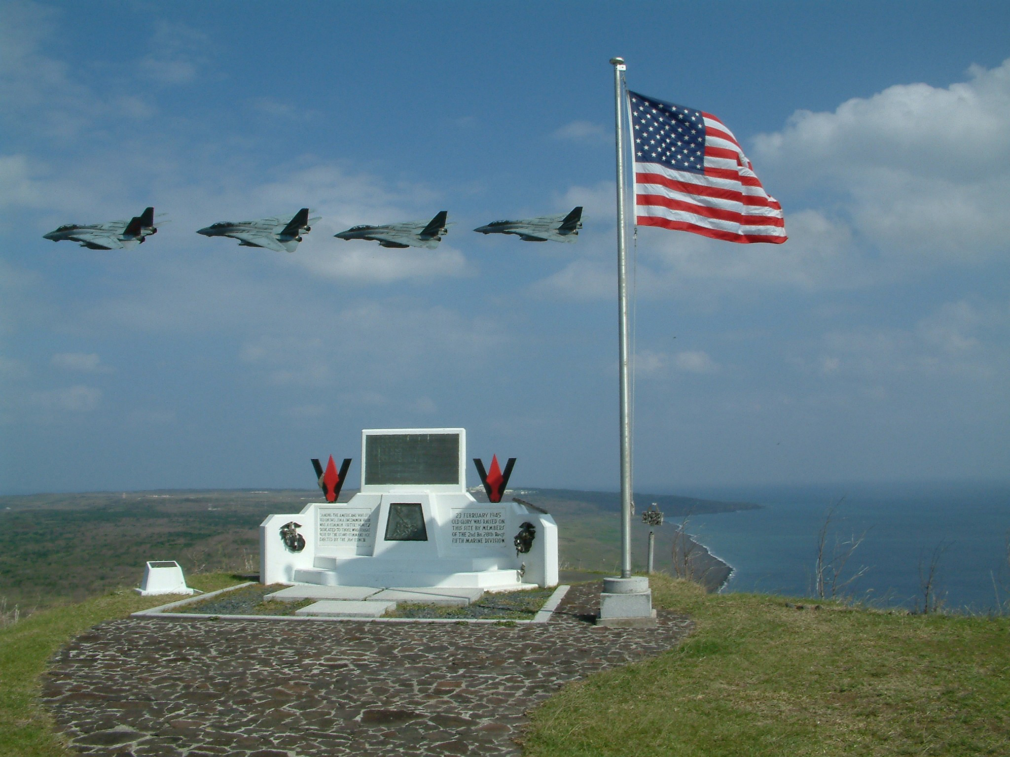 Res: 2048x1536, File:Mt Suribachi memorial Iwo Jima.jpg