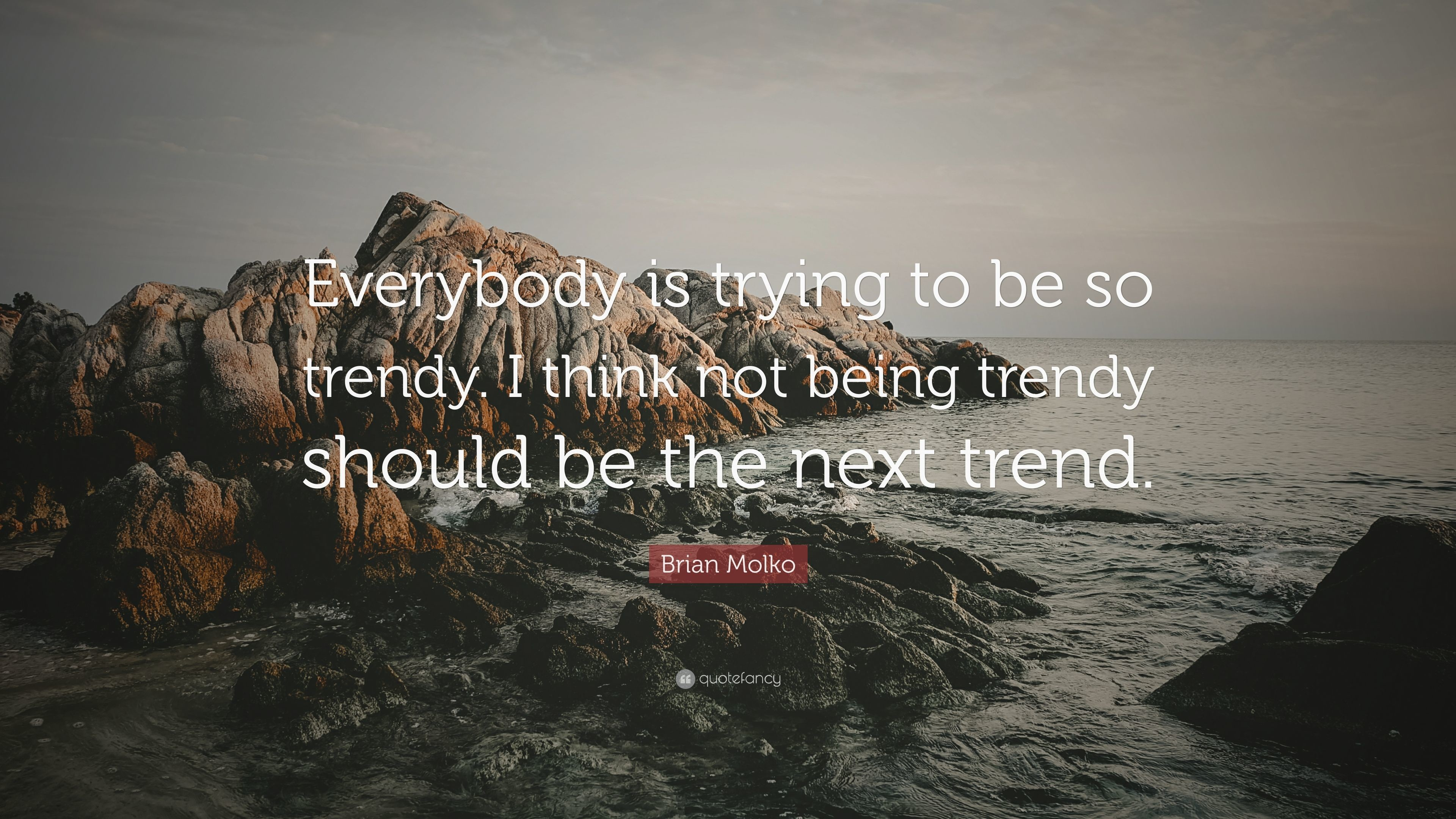 "Res: 3840x2160, Brian Molko Quote: ""Everybody is trying to be so trendy. I think not"