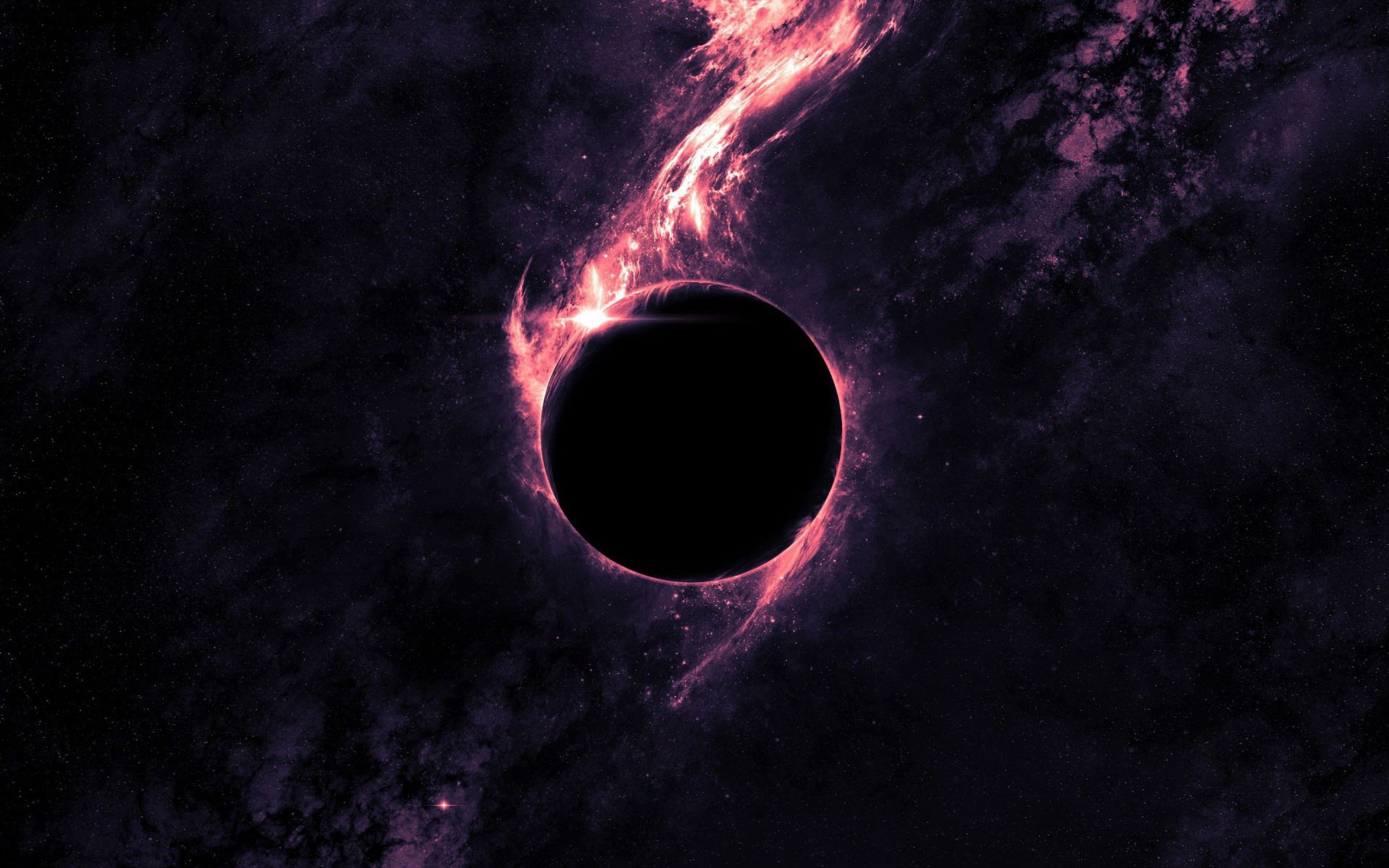 Res: 2880x1800, Black Hole | In the outer flow, Space | Free HD wallpapers