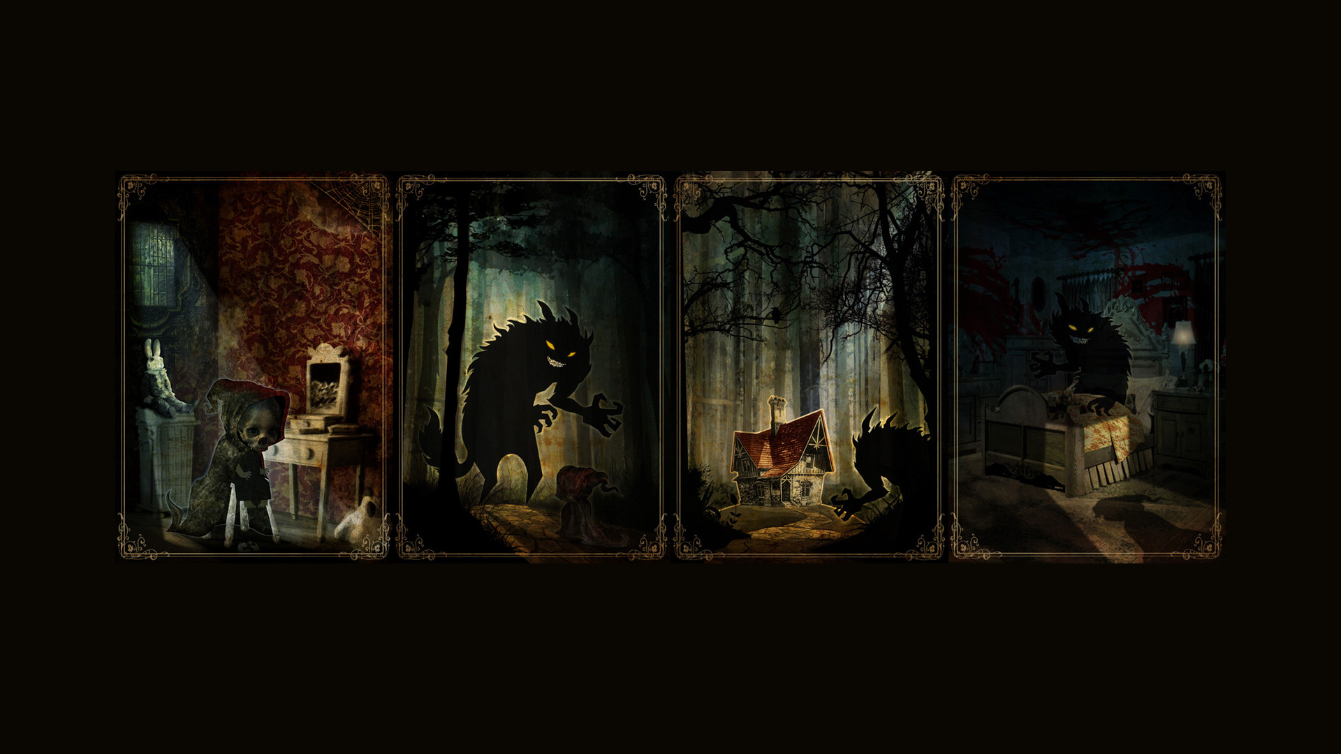 Res: 1920x1080, ... Top HD Wallpapers Collection of Little Red Riding Hood And The Wolf -   px, ...
