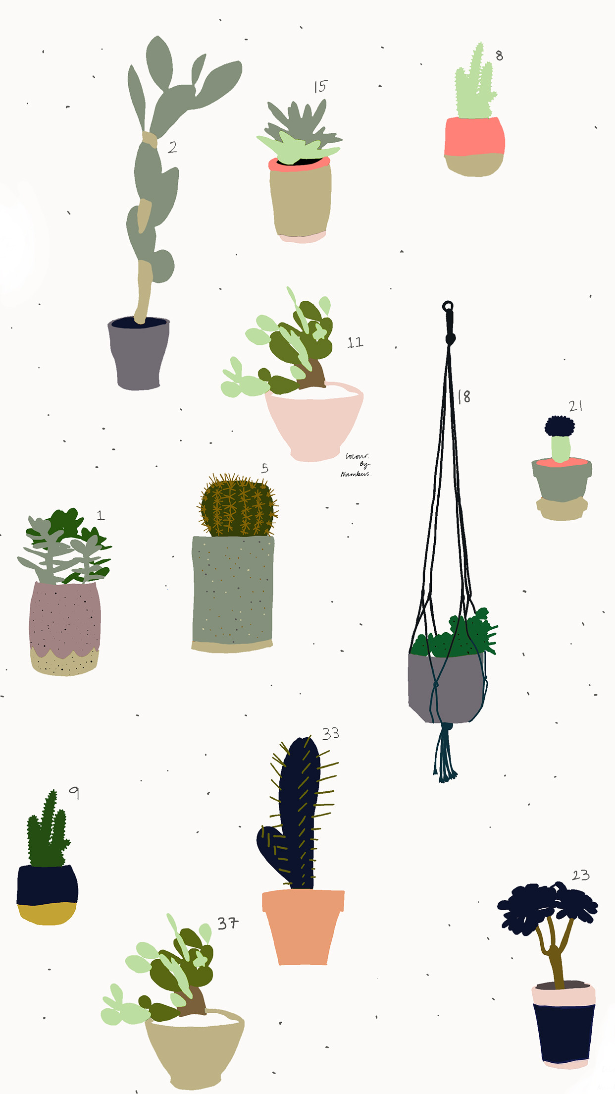 Res: 1242x2208, Download the cactus print here for MOBILE and DESKTOP.