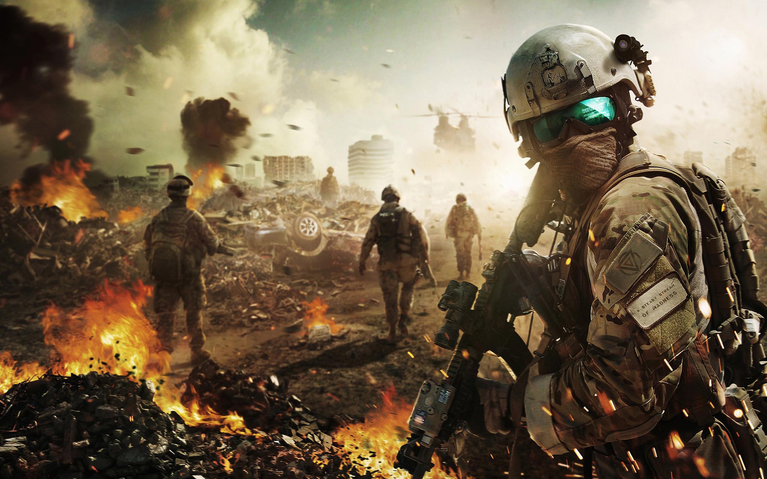 Res: 2560x1600, Battlefield Soldier Wallpaper