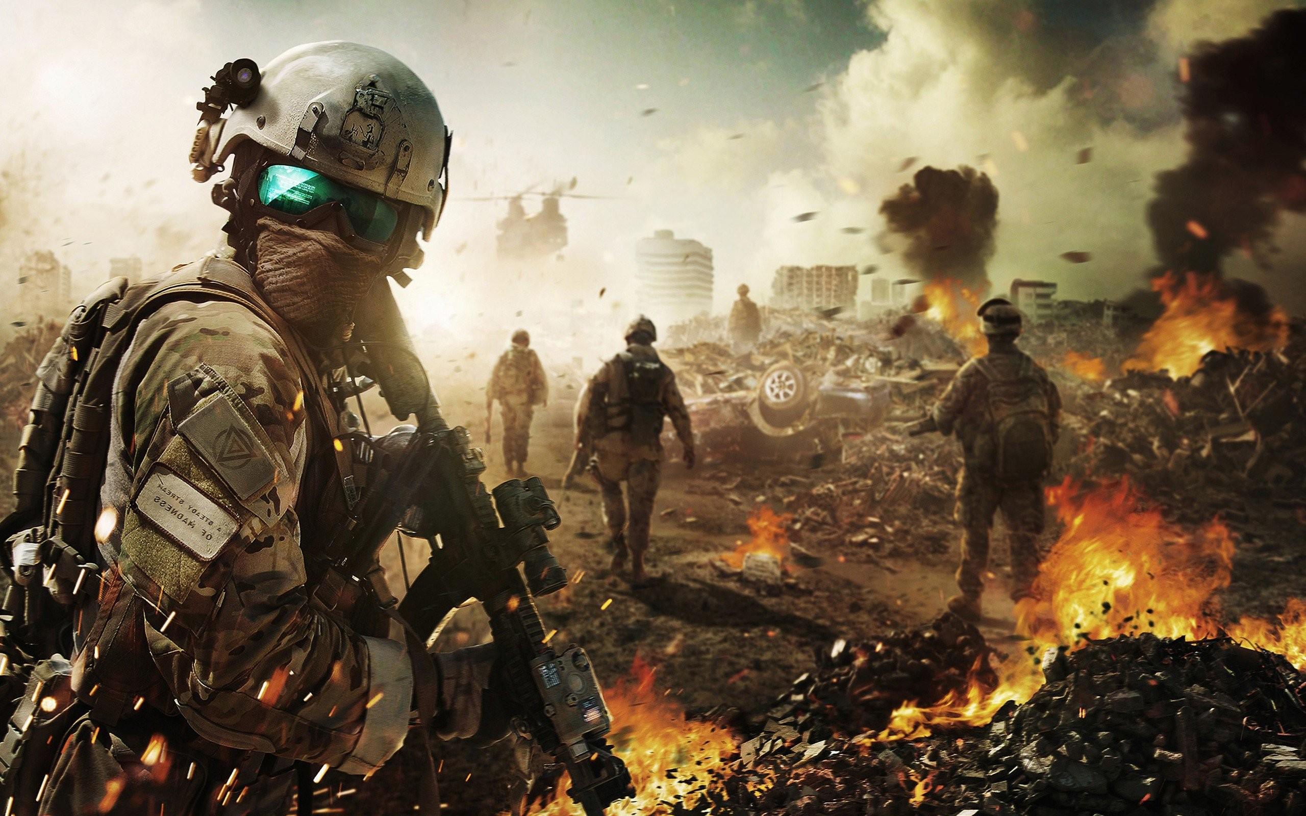 Res: 2560x1600, Battlefield Soldier