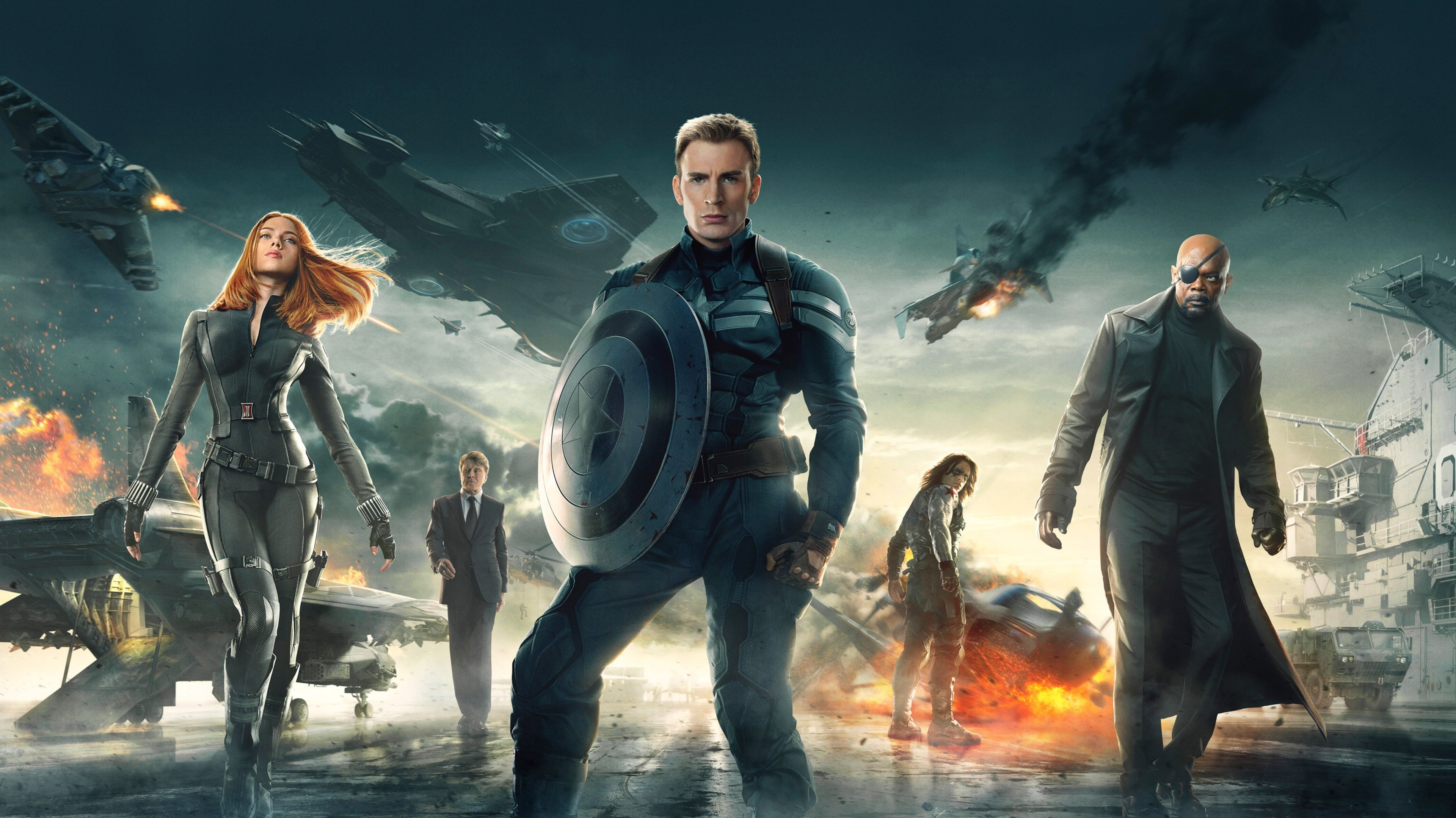 Res: 3840x2160, Captain America The Winter Soldier