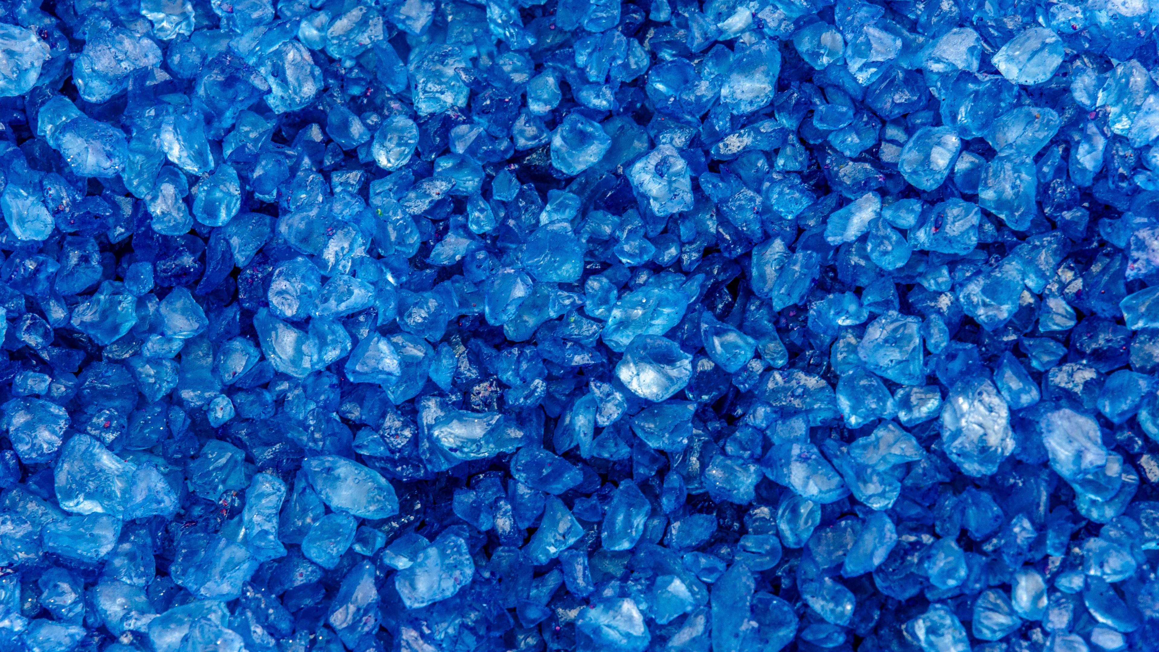 Res: 3840x2160,  Wallpaper pebbles, blue, texture, stones