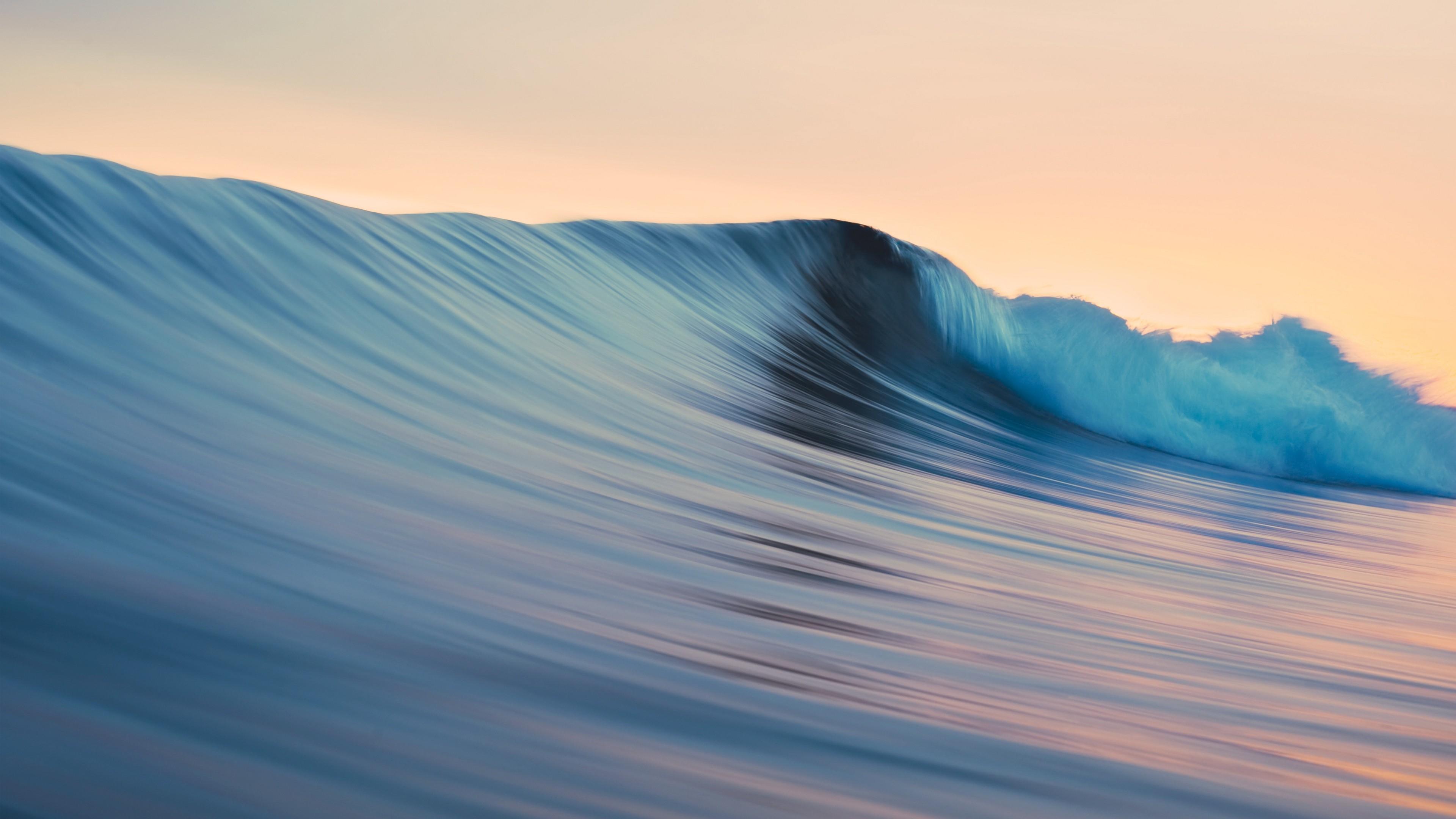 Res: 3840x2160,  Wallpaper mac, os x, apple, mavericks, waves, wave