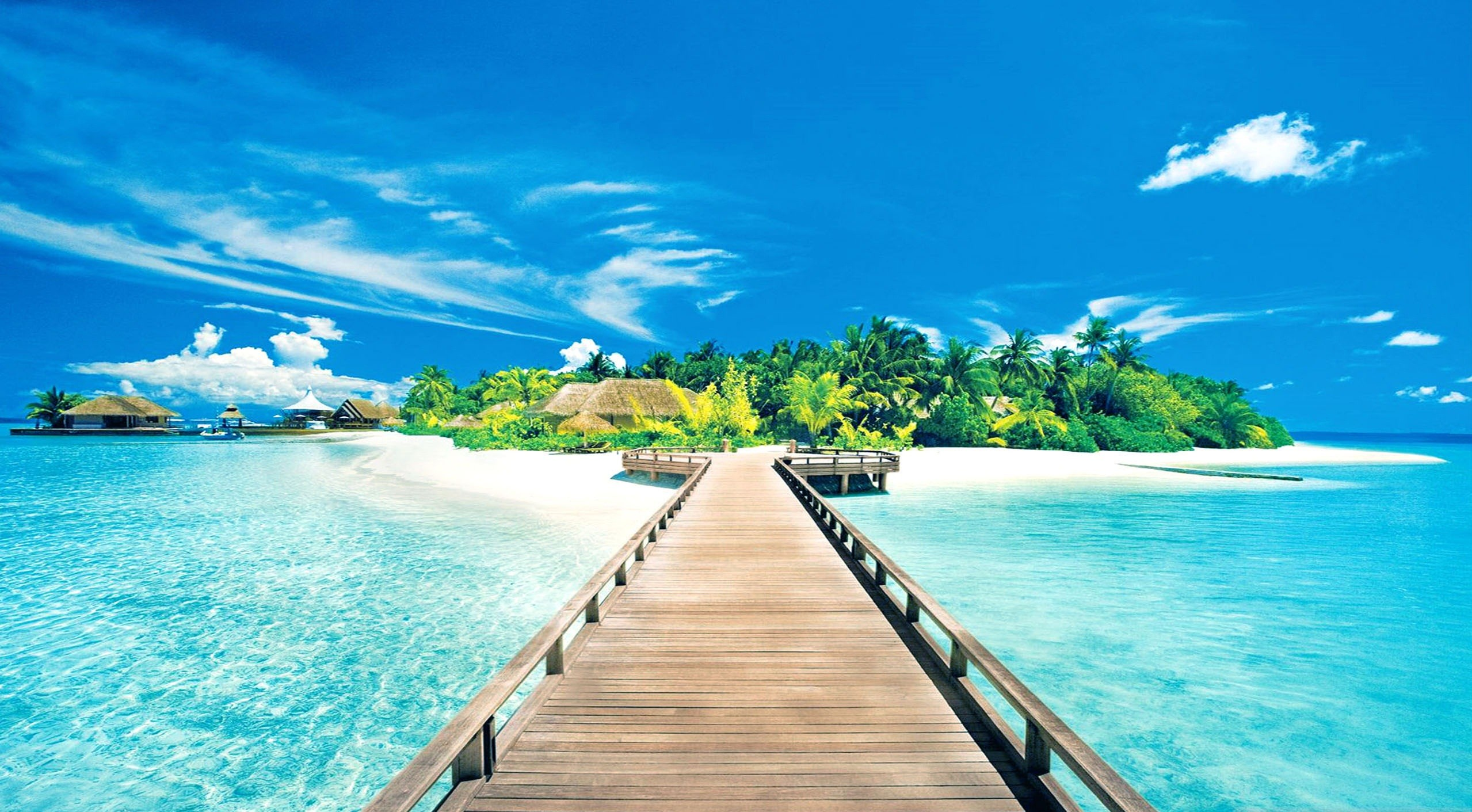 Res: 2558x1411, Beach Summer Desktop Wallpaper Simple White Blue Motive Ideas Personalized  Sample Themes Creative