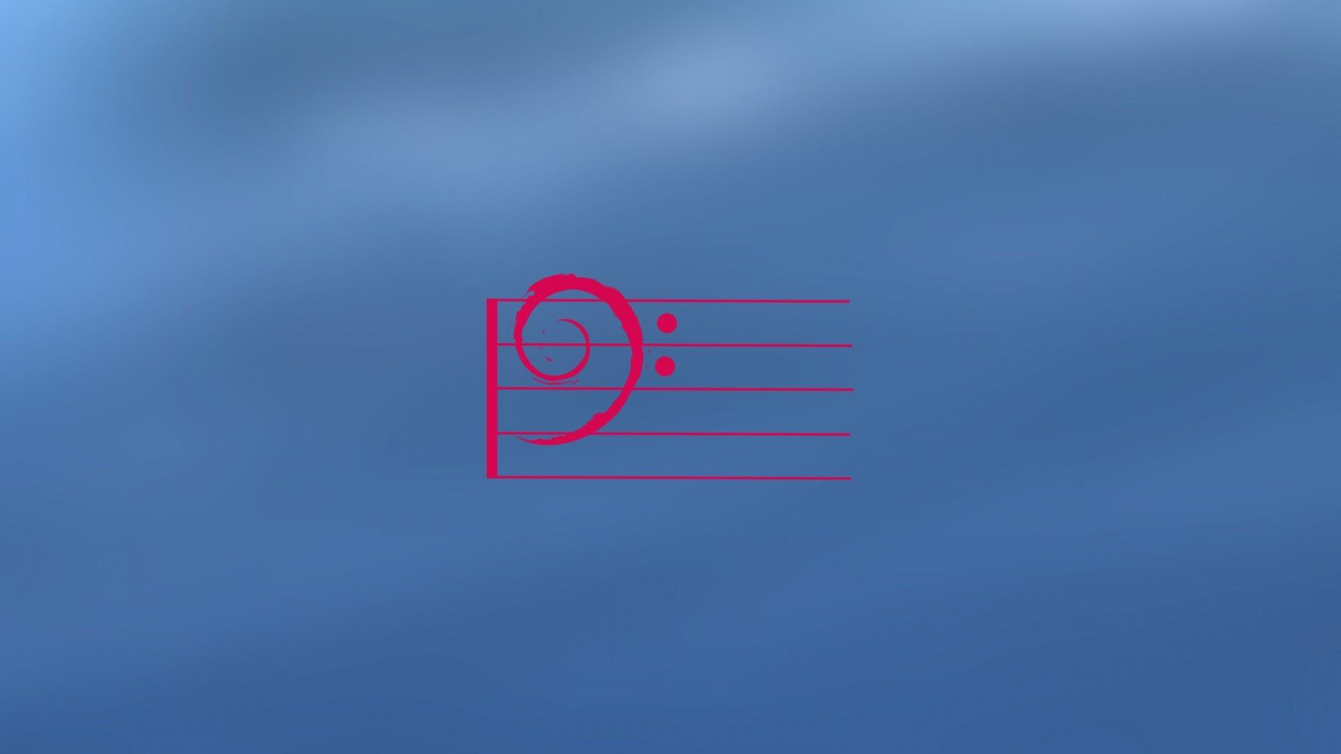 Res: 1920x1080,  Debian music
