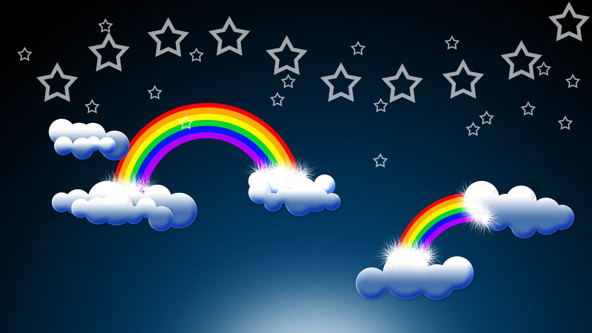 Res: 1920x1080,  Theme Bin» Blog Archive » Epic Rainbow and Clouds HD Wallpaper