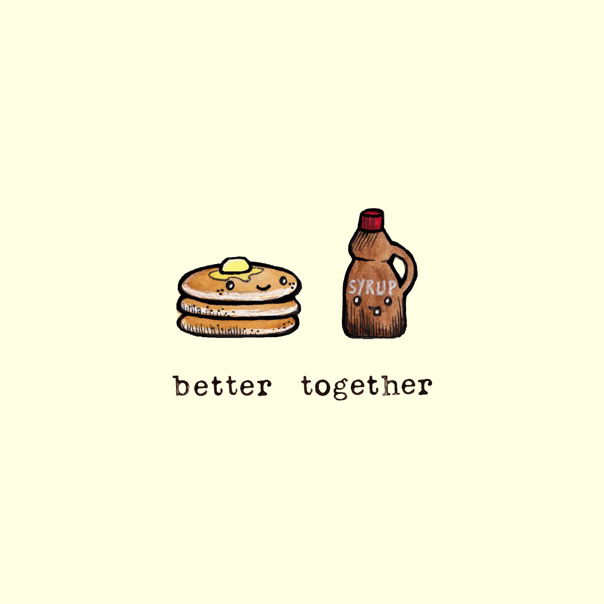 Res: 2048x2048, Cute Cartoon Wallpapers, Food Wallpaper, Better Together, Phone Backgrounds,  Iphone Wallpapers, Itunes, Drawing Designs, Drawing Ideas, Kefir