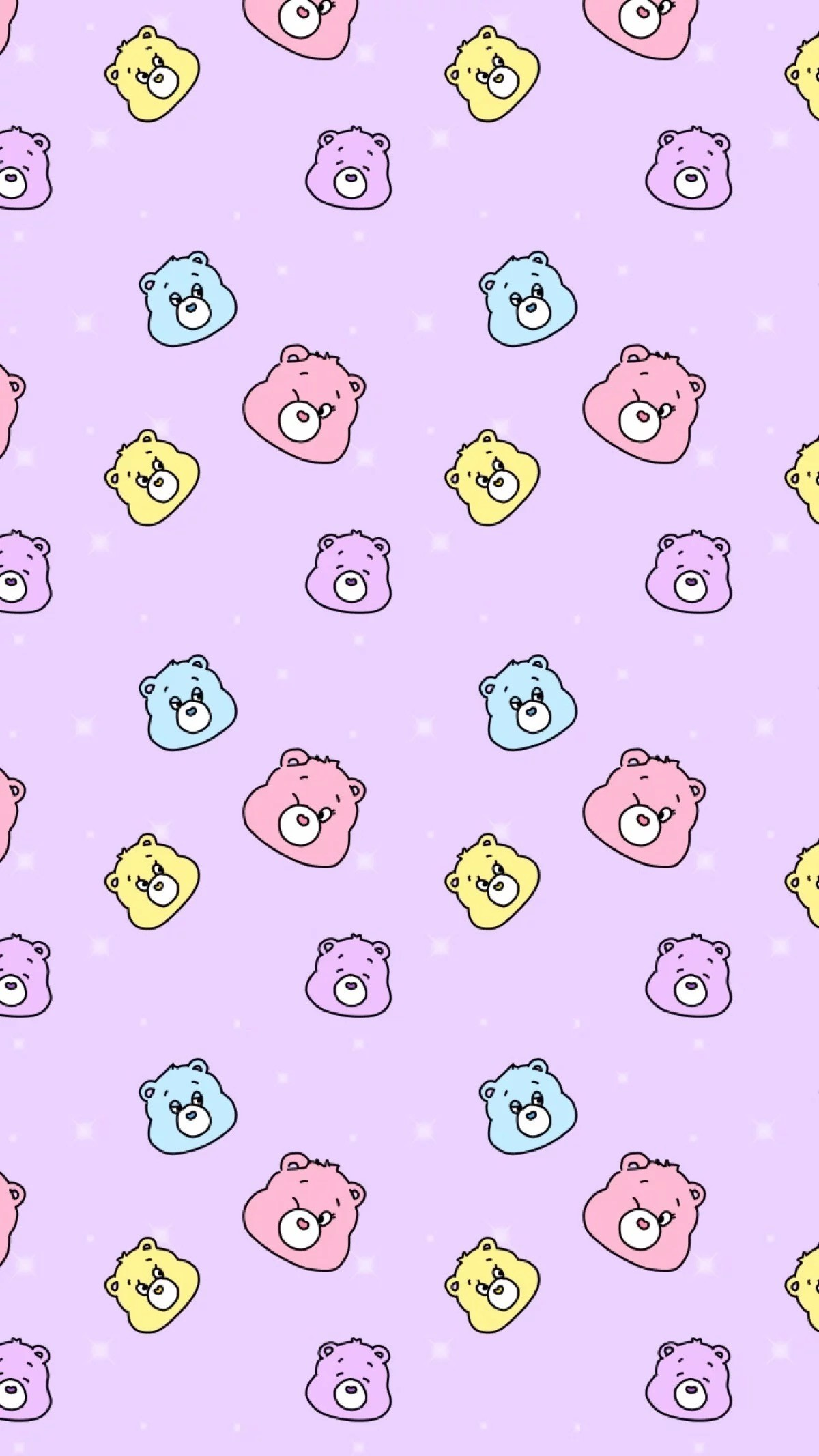 Res: 1200x2133,  Bear Wallpaper, Care Bears, Phone Wallpapers, Kawaii, Basket,  Girly, Walls, Paper, Candy