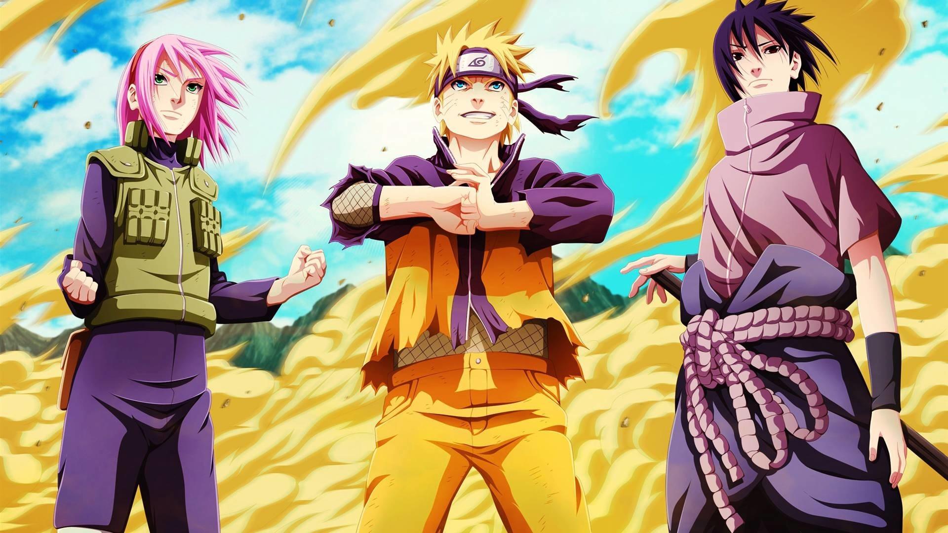 Res: 1920x1080,  Naruto Sakura Sasuke Team 7 Wallpaper HD #9330 Wallpaper   High .