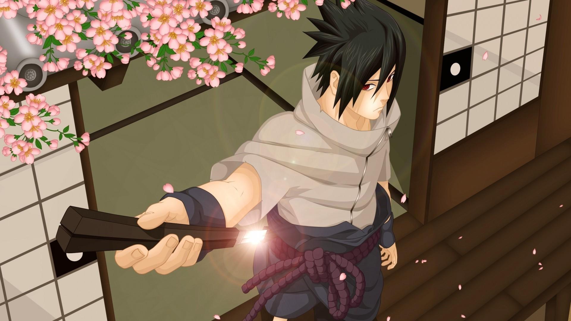 Res: 1920x1080,  Preview wallpaper naruto, uchiha sasuke, naruto shippuden, door,  sakura, weapons