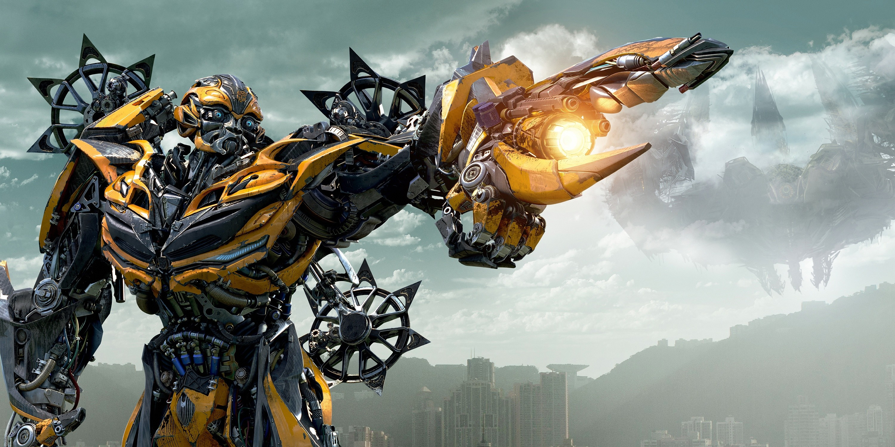 Res: 3000x1500, Bumblebee Transformers 4 Age Of Extinction Free Wallpaper HD Uploaded by  DesktopWalls