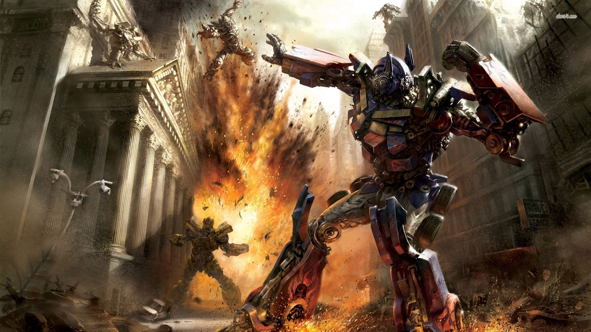 Res: 1920x1080, ... Optimus Prime and Bumblebee wallpaper  ...