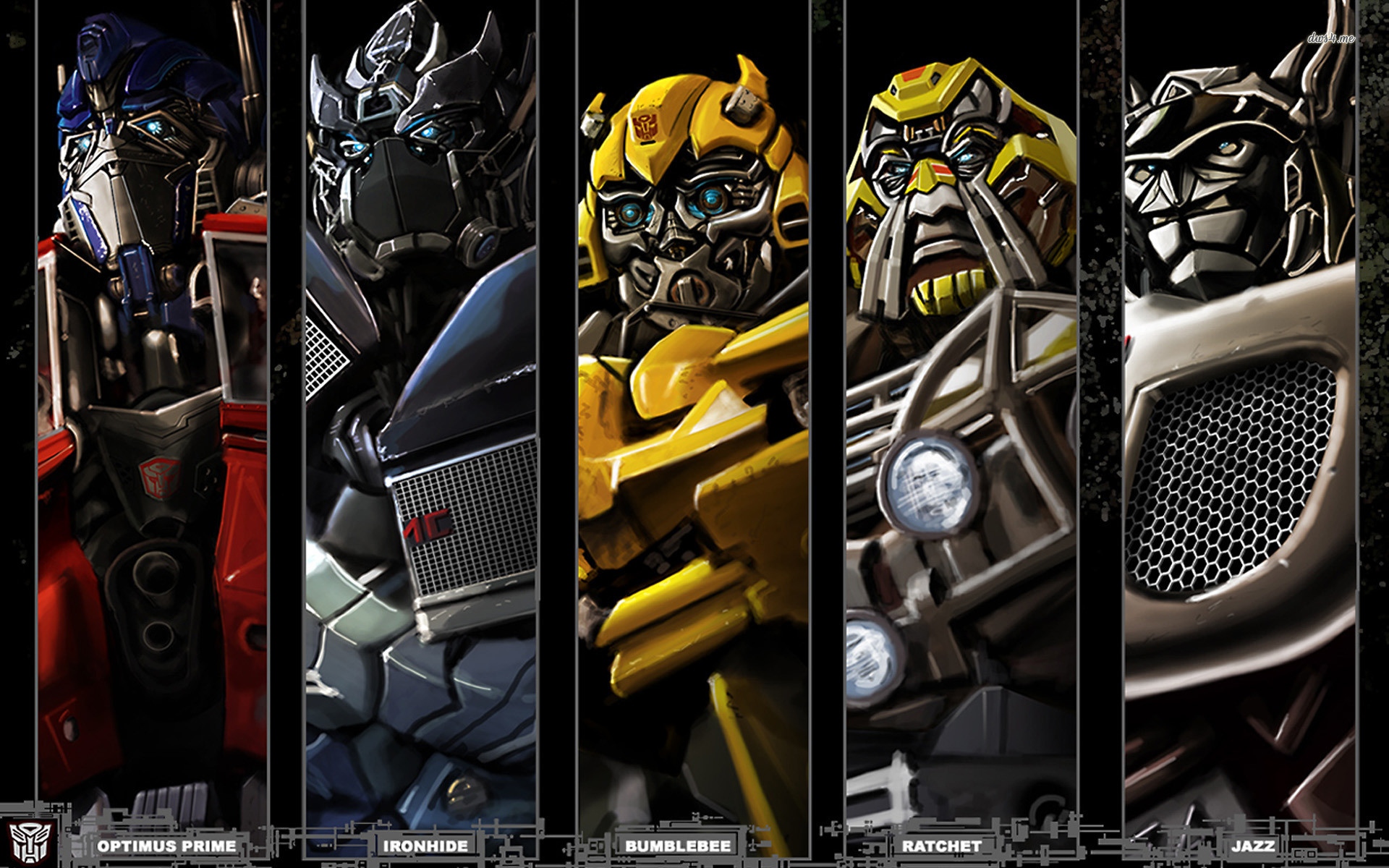 Res: 1920x1200, ... Optimus Prime, Ironhide, Bumblebee, Ratchet, Jazz wallpaper   ...