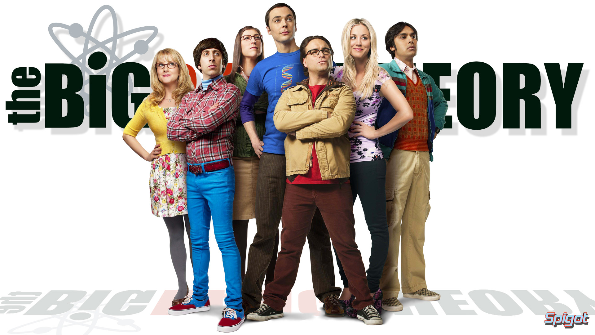 Res: 1920x1080, Fernsehserien - The Big Bang Theory Leonard Hofstadter Johnny Galecki  Bernadette Rostenkowski Melissa Rauch Amy Farrah