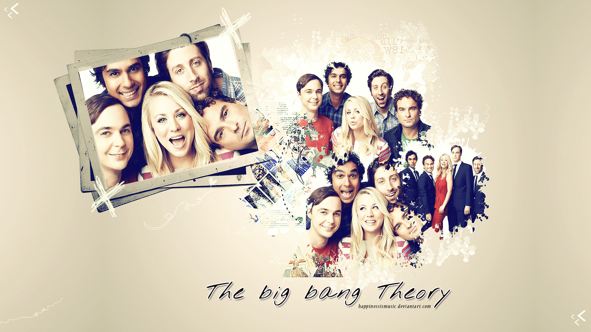 Res: 1920x1080, ... HappinessIsMusic The cast of the big bang theory wallpaper by  HappinessIsMusic