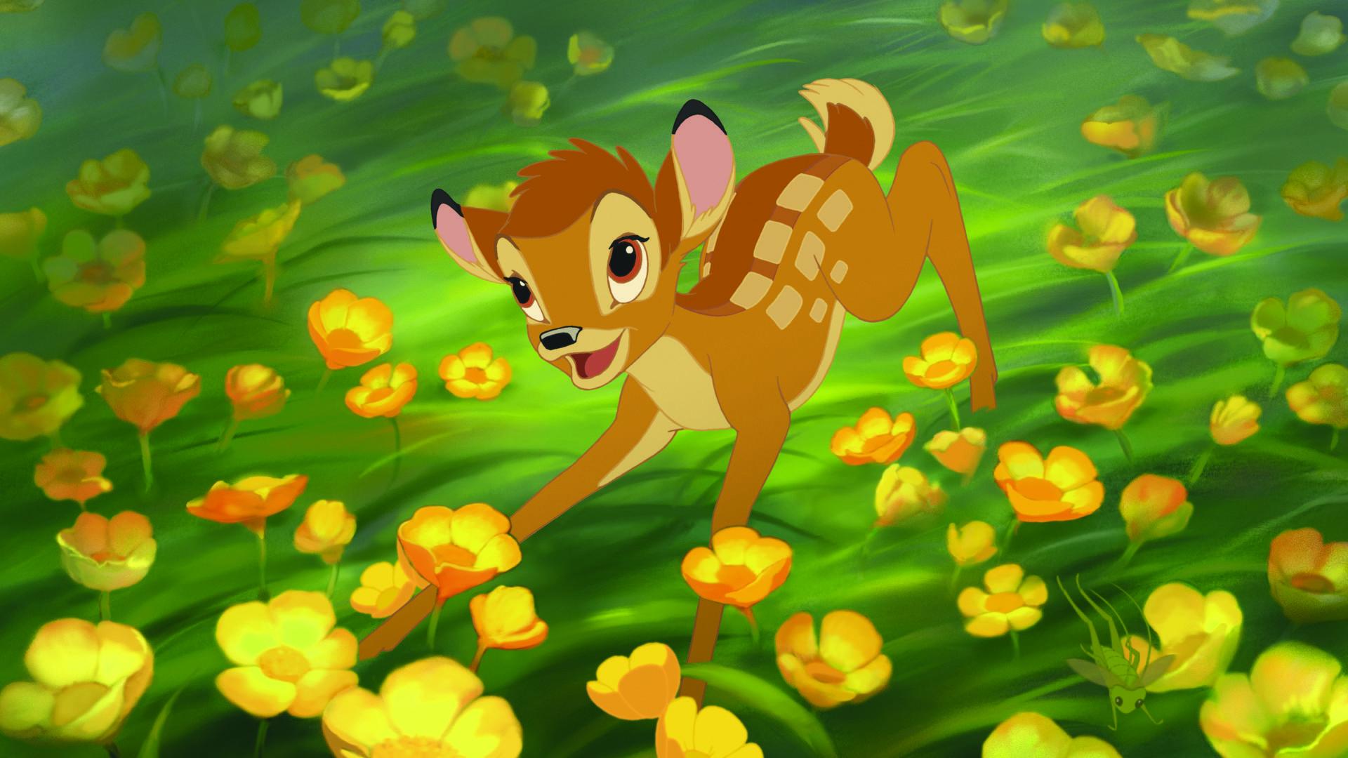 Res: 1920x1080, Bambi Spring Wallpaper | HD Desktop wallpaper Bambi running through flowers  - movies, Bambi .