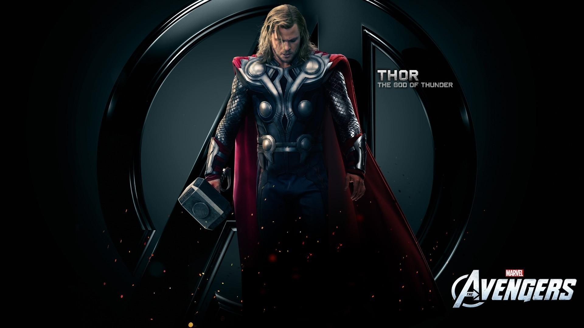 Res: 1920x1080, Chris Hemsworth Mjolnir The Avengers Film thor wallpaper