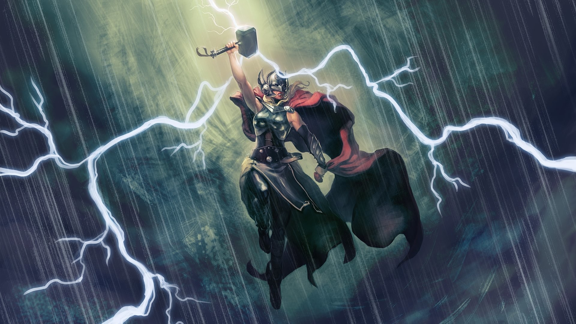 Res: 1920x1080, HD Wallpaper | Background Image ID:614453.  Comics Lady Thor