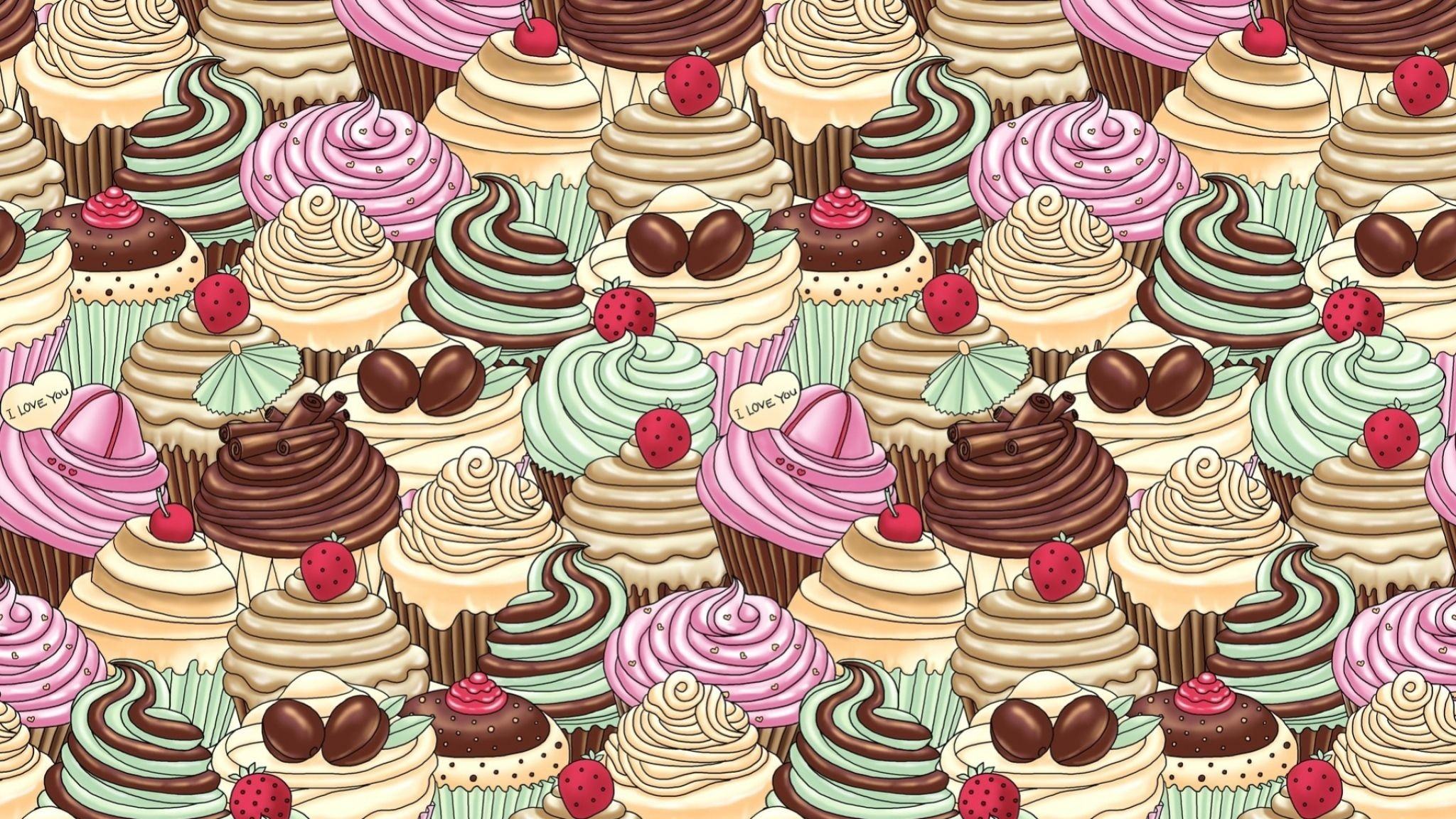 Res: 2048x1152, Cute Cupcake Wallpapers