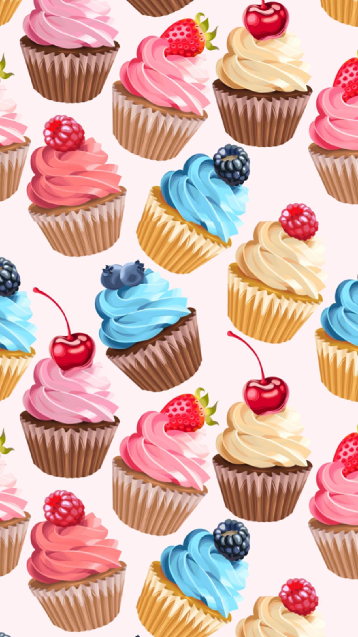 Res: 1242x2208, Kawaii art · Awesome cupcakes
