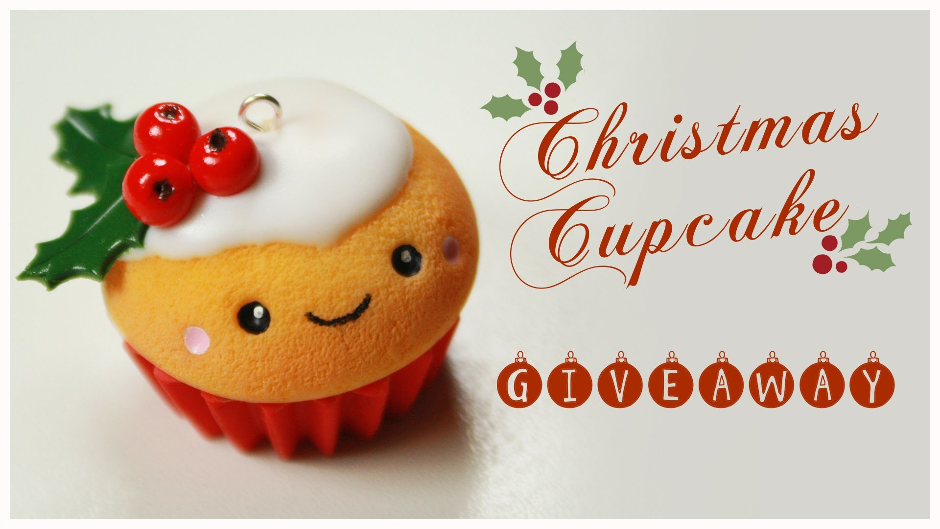 Res: 1920x1080, kawaii CHRISTMAS Cupcake TUTORIAL - HUGE Holiday Giveaway (CLOSED) !!! (  AmiGami ,FIMO, jewelry) - YouTube