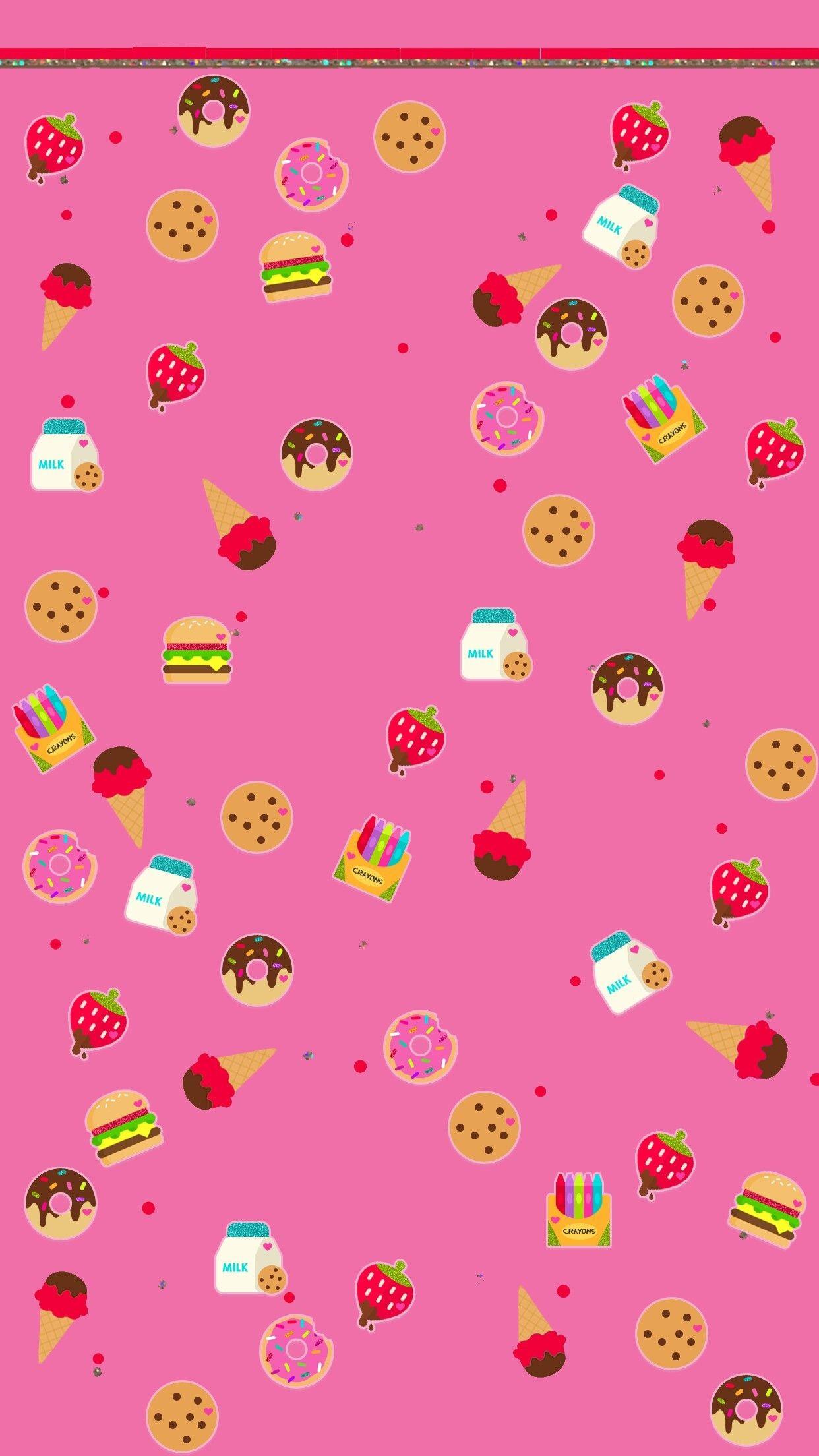 Res: 1242x2208, Kawaii Wallpaper, Wallpaper Art, Cute Wallpapers, Iphone Wallpapers,  Cellphone Wallpaper, Backrounds, Papo, Cupcakes, Images