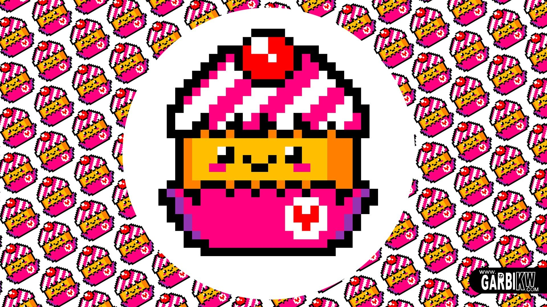 Res: 1920x1080, Kawaii Cupcake - Drawing Pixel Art by Garbi KW - Cute Characters Design -  YouTube