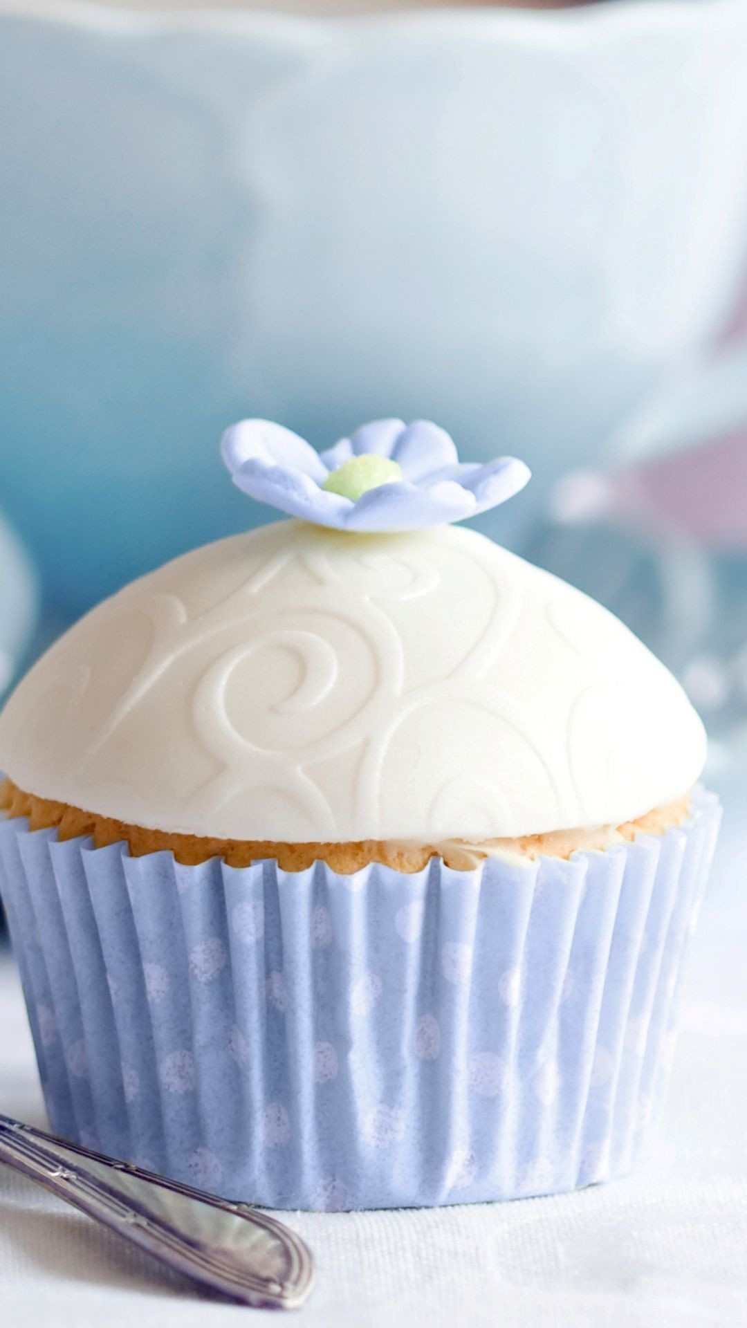 Res: 1080x1920, Cupcake Cake Fork Dessert #iPhone #6 #plus #Wallpaper