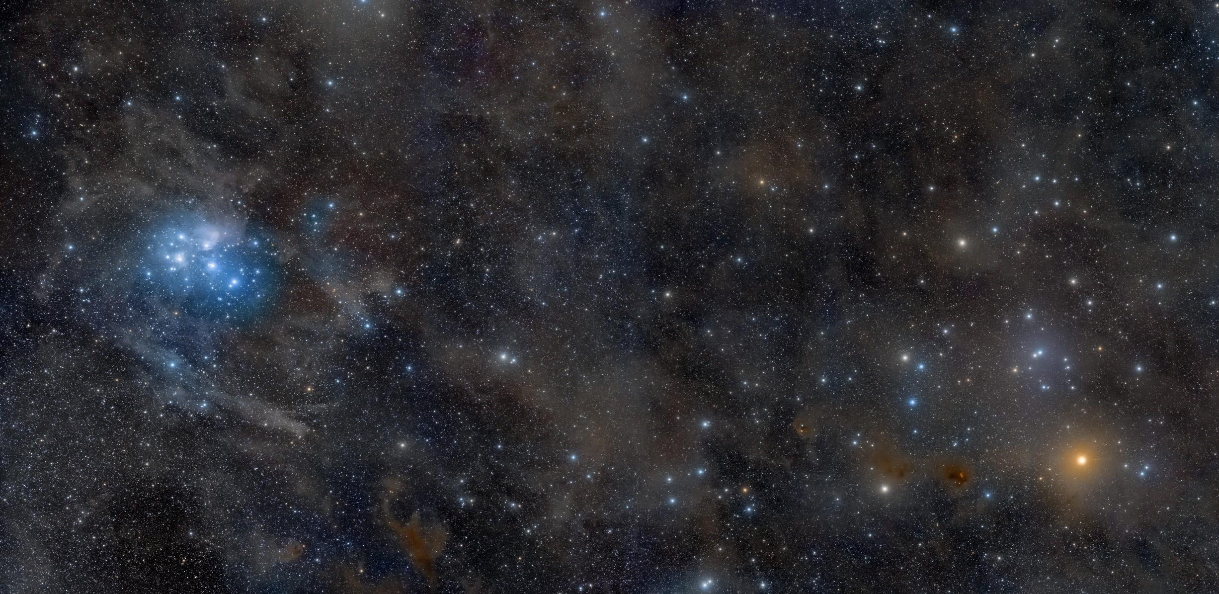 Res: 2453x1195, APOD: 2011 November 17 - Pleiades to Hyades