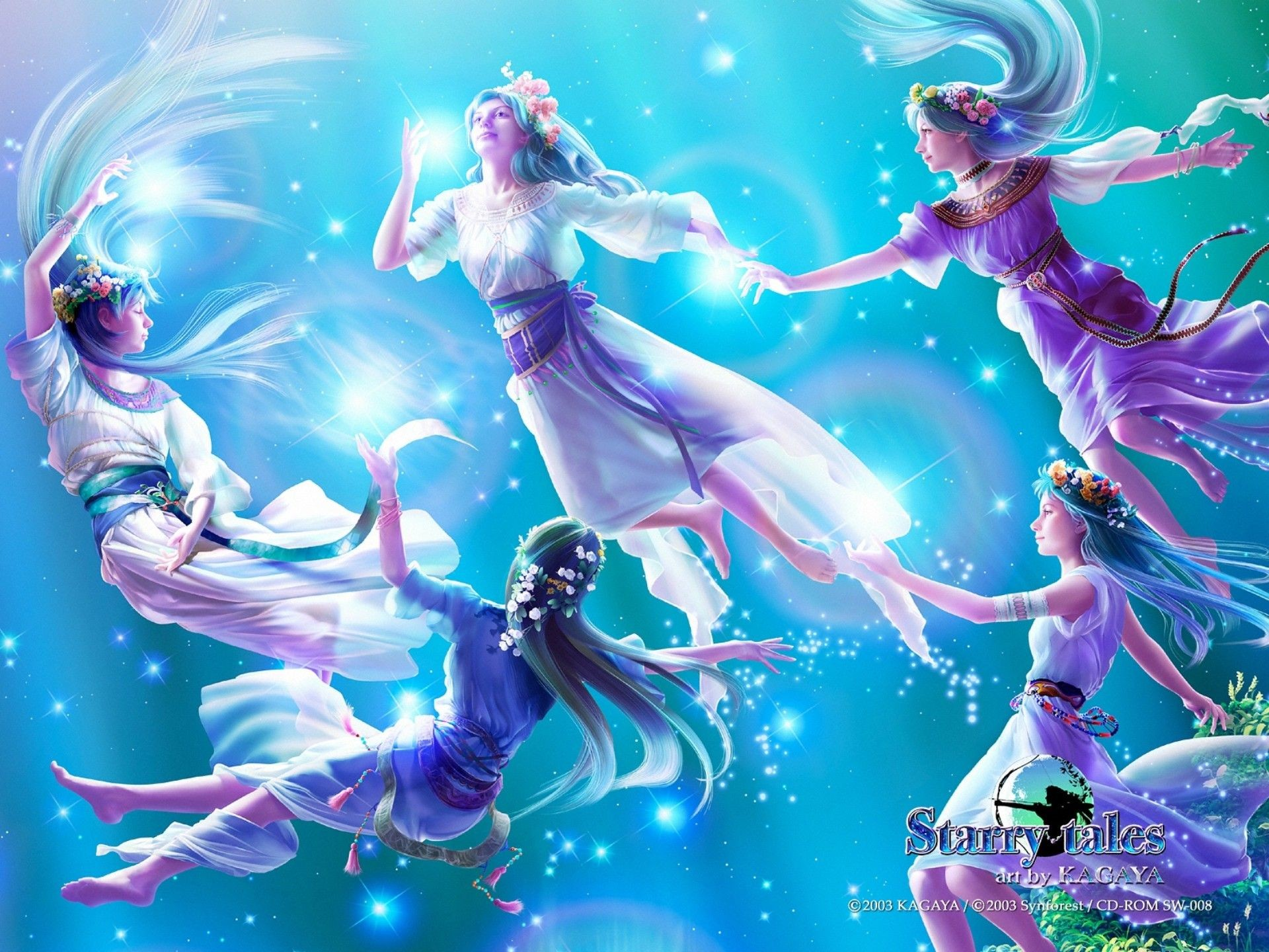 Res: 1920x1440, kagaya art / constellations and mythologies / starry tales / pleiades