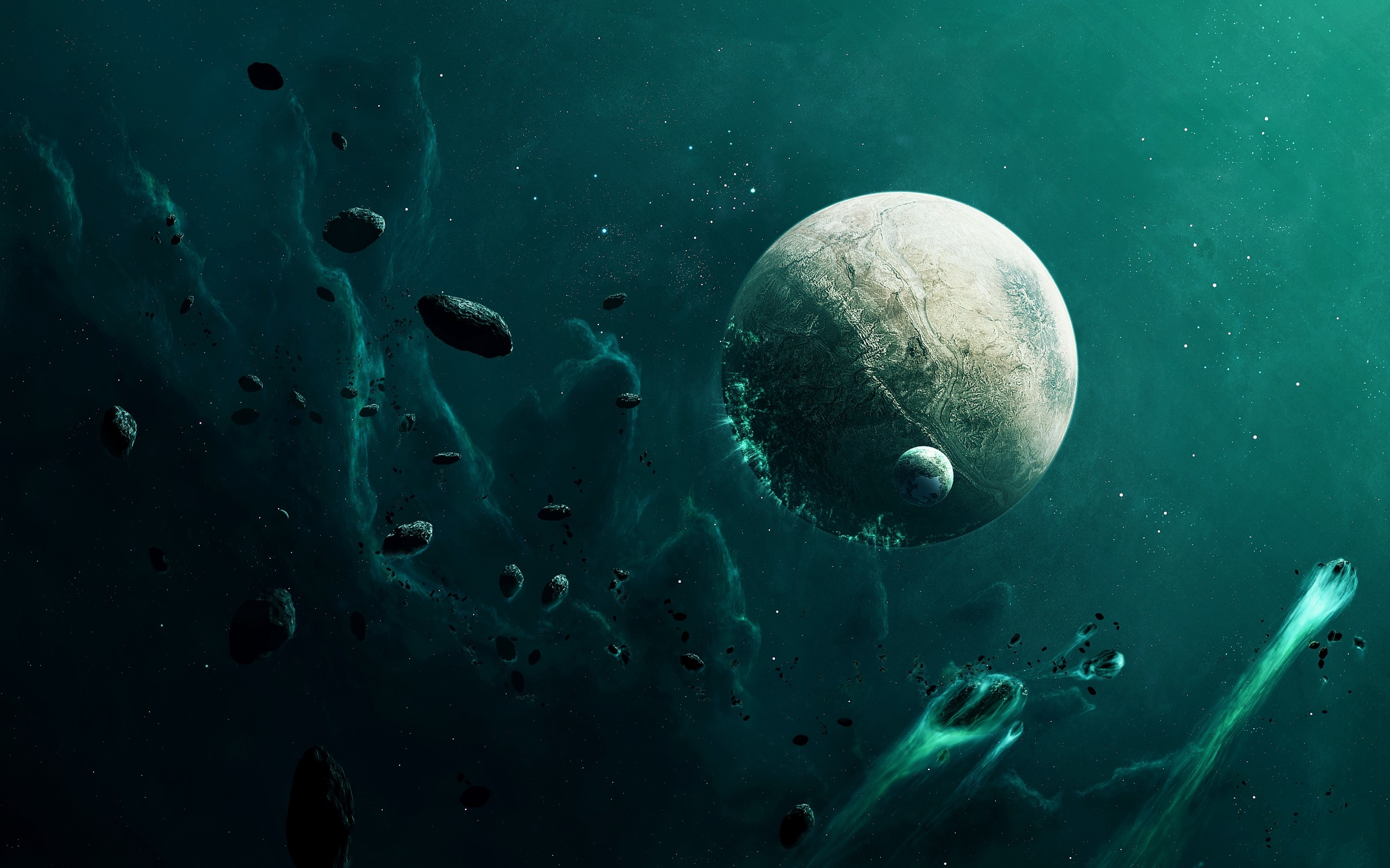 Res: 2560x1600, Previous: Planets Moon & Asteroids ...