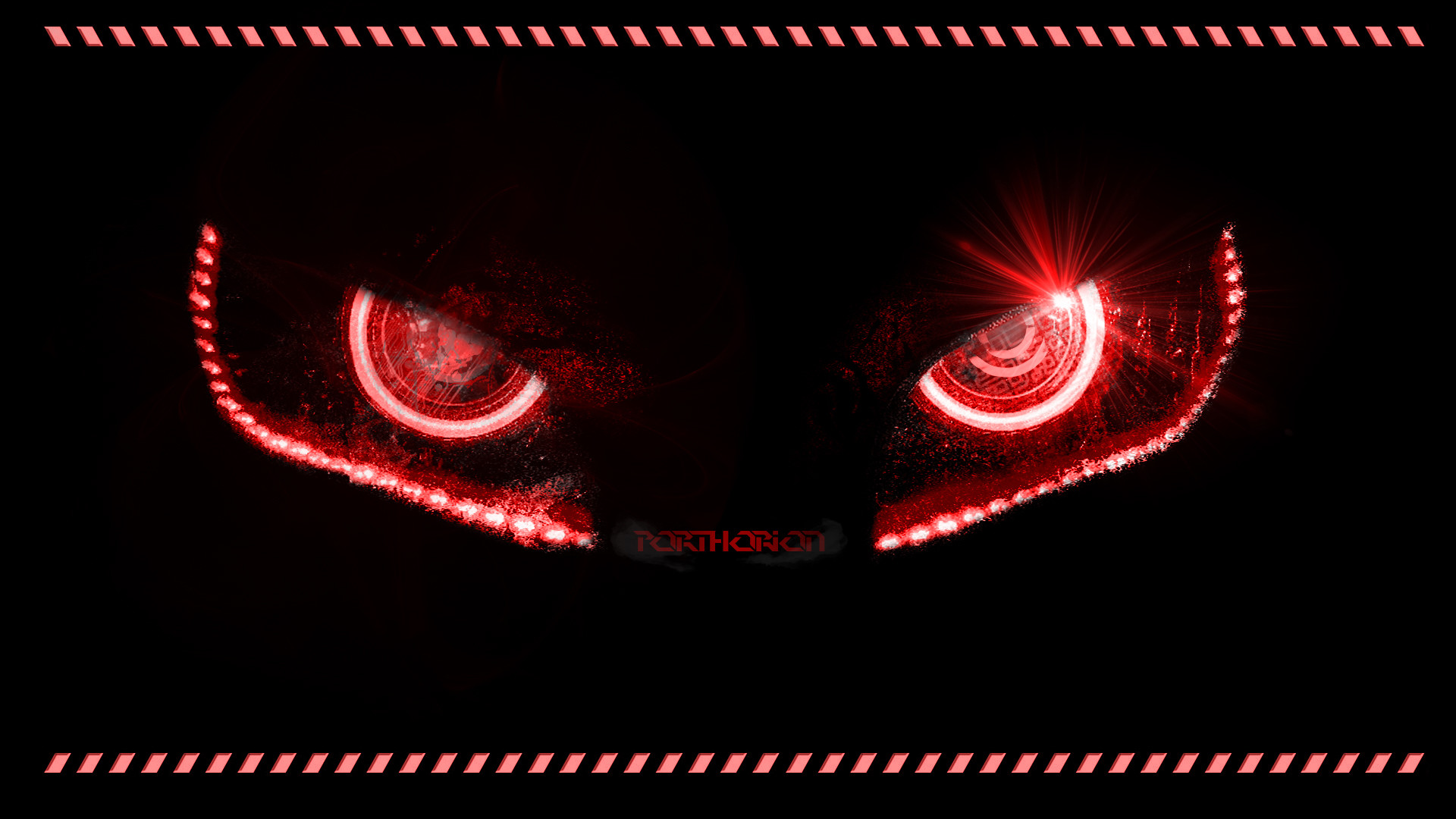 Res: 1920x1080, ... Badass Evil Robotic Eyes - With lines by porthorion