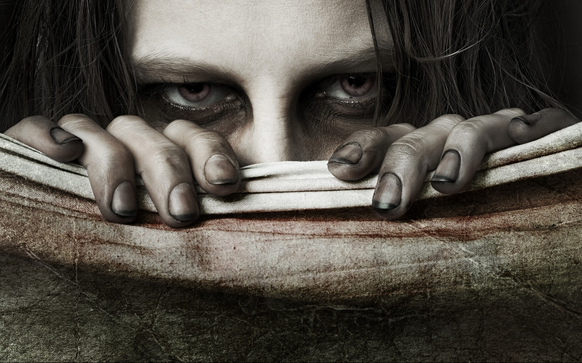 Res: 1920x1200, creepy,dark, display, eyes, scary, tablet backgrounds horror, mood, evil,drawing,  art Wallpaper HD
