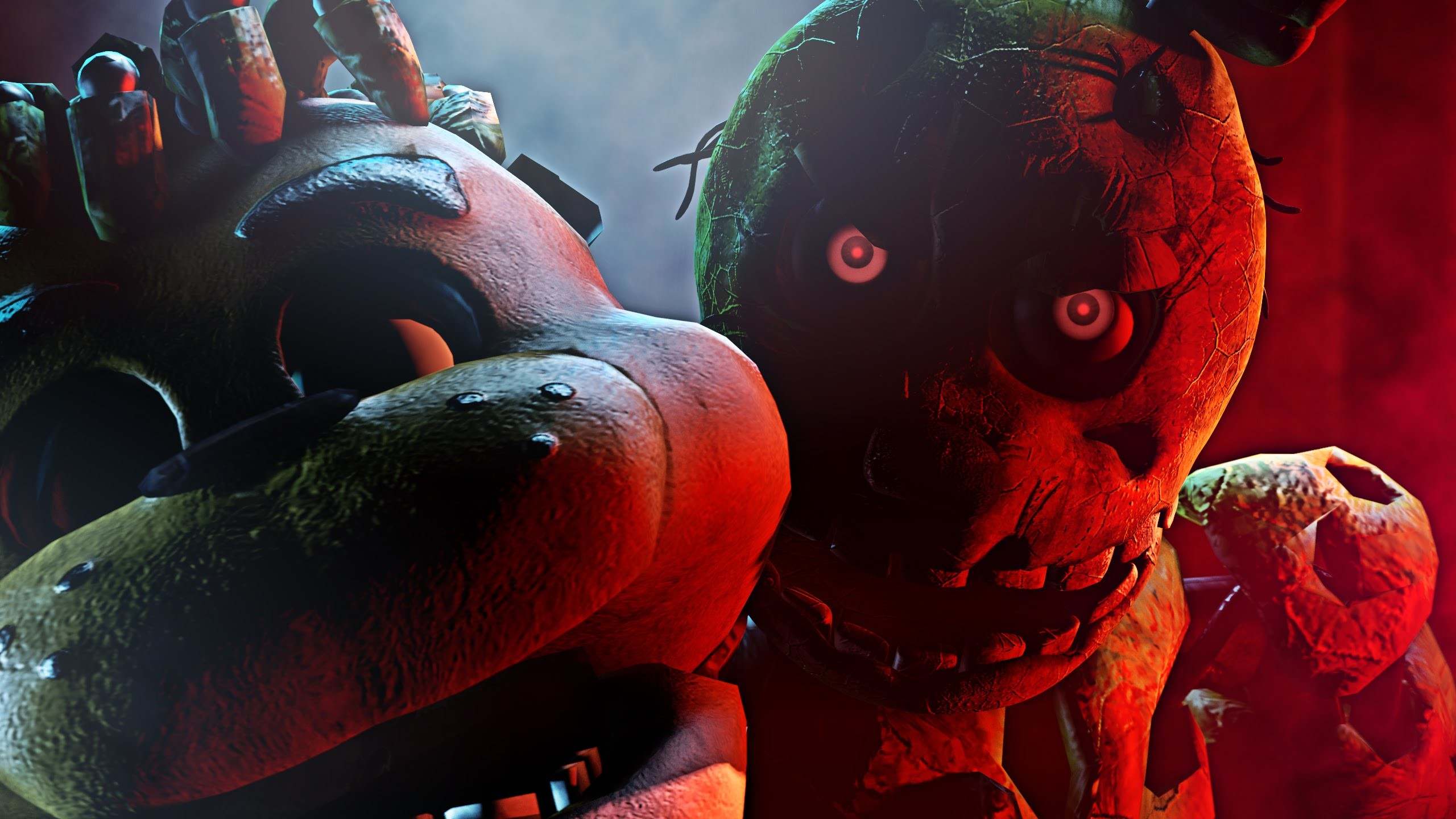 Res: 2560x1440, (SFM FNAF) Death Scene Springtrap - 2 Evil Eyes - YouTube