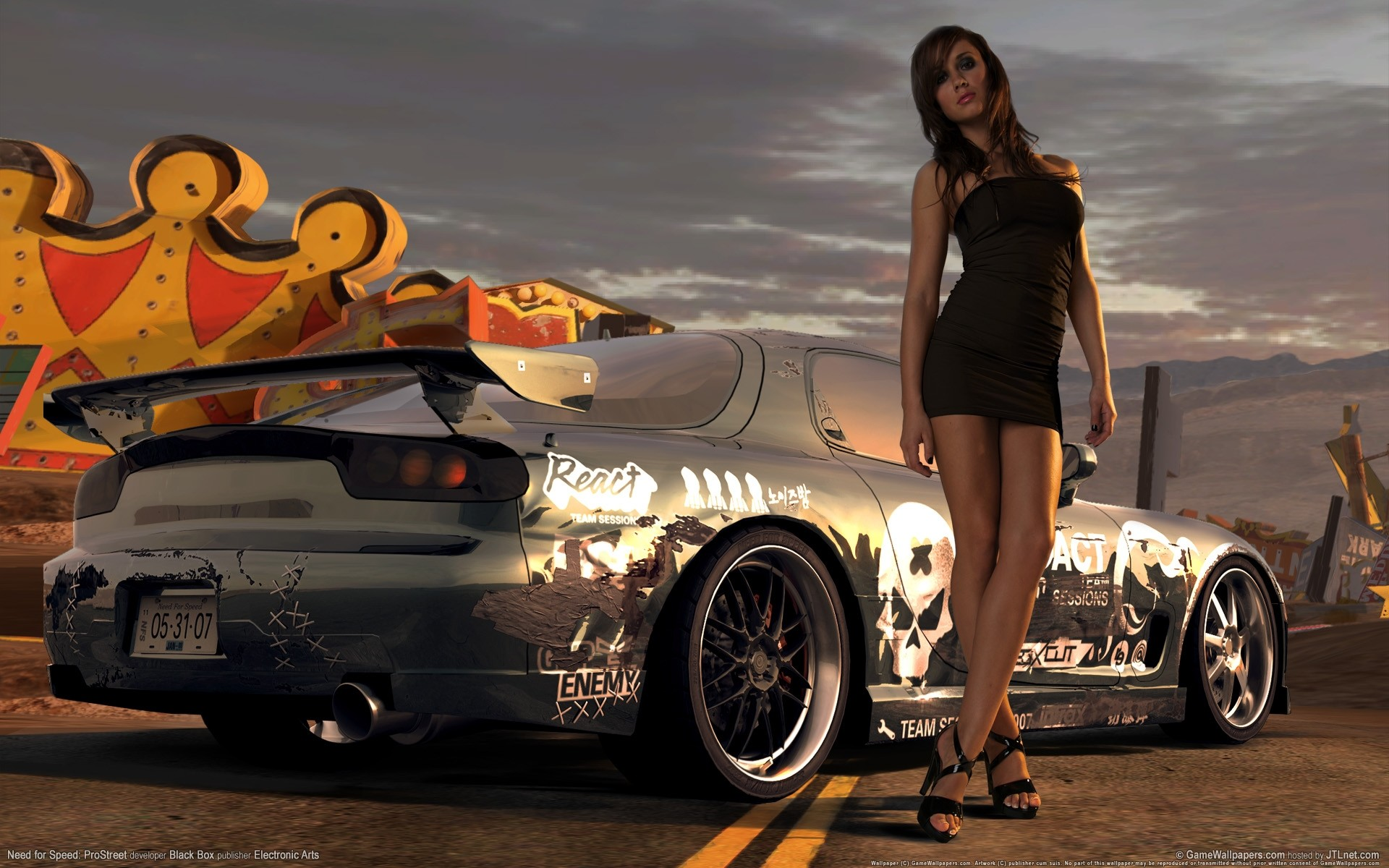 Res: 1920x1200, Awesome Street Racing Cars Wallpaper with Girls