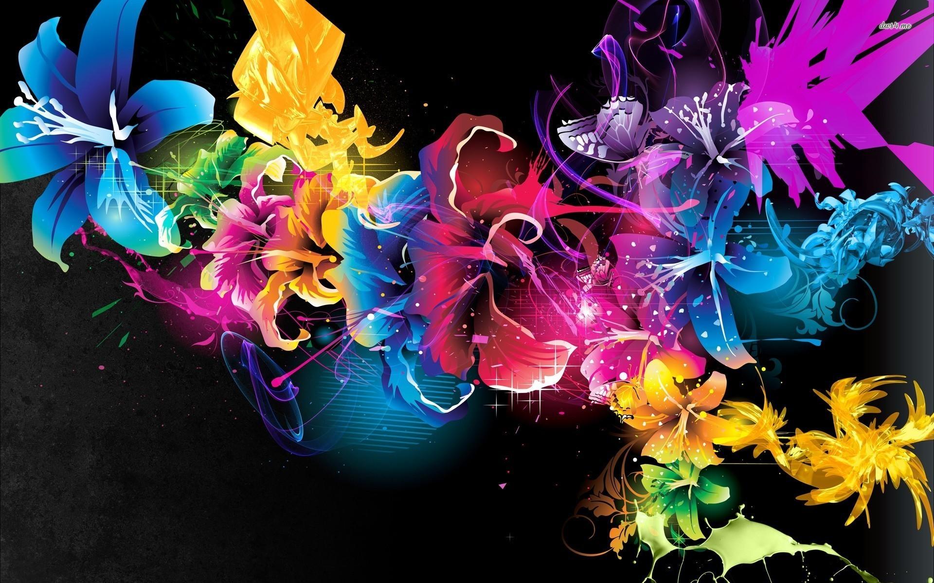 Res: 1920x1200, ... Multicolored hibiscus wallpaper  ...