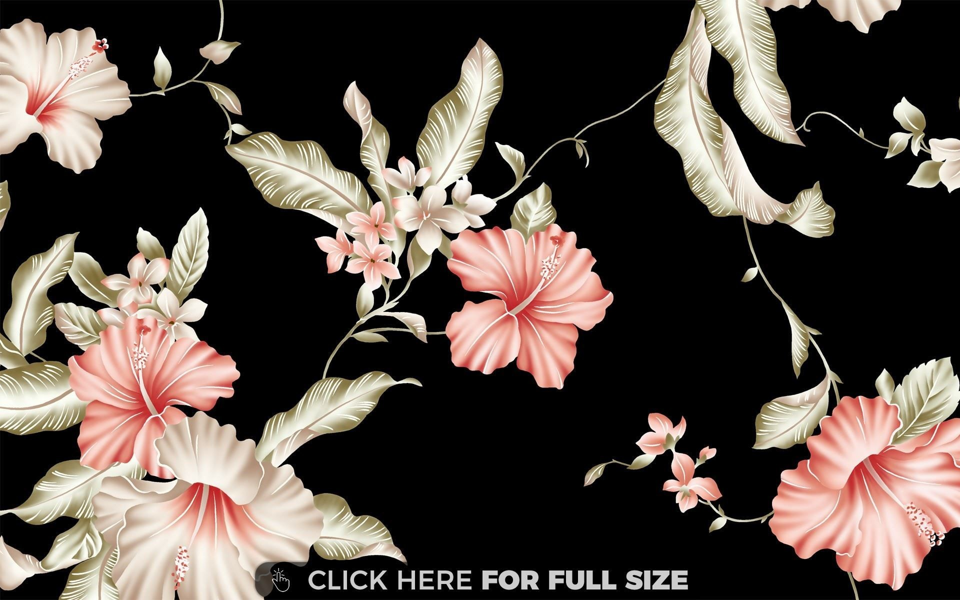 Res: 1920x1200, Hibiscus Pattern wallpaper