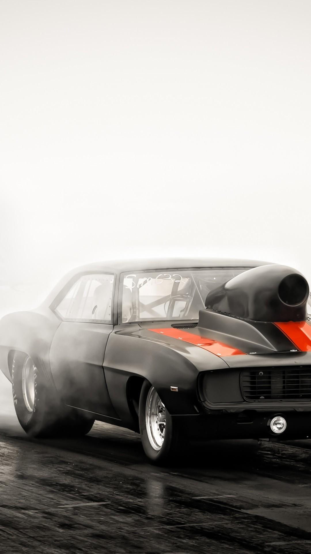 Res: 1080x1920, Drag Racing, Smoke, Cars