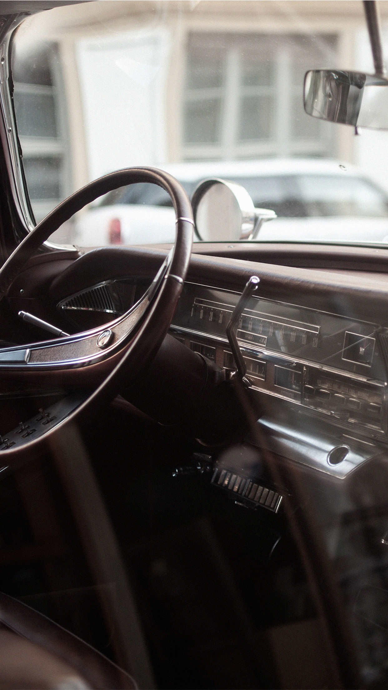 Res: 1242x2208, Driver Seat Old Car Vintage Passion Android Wallpaper ...